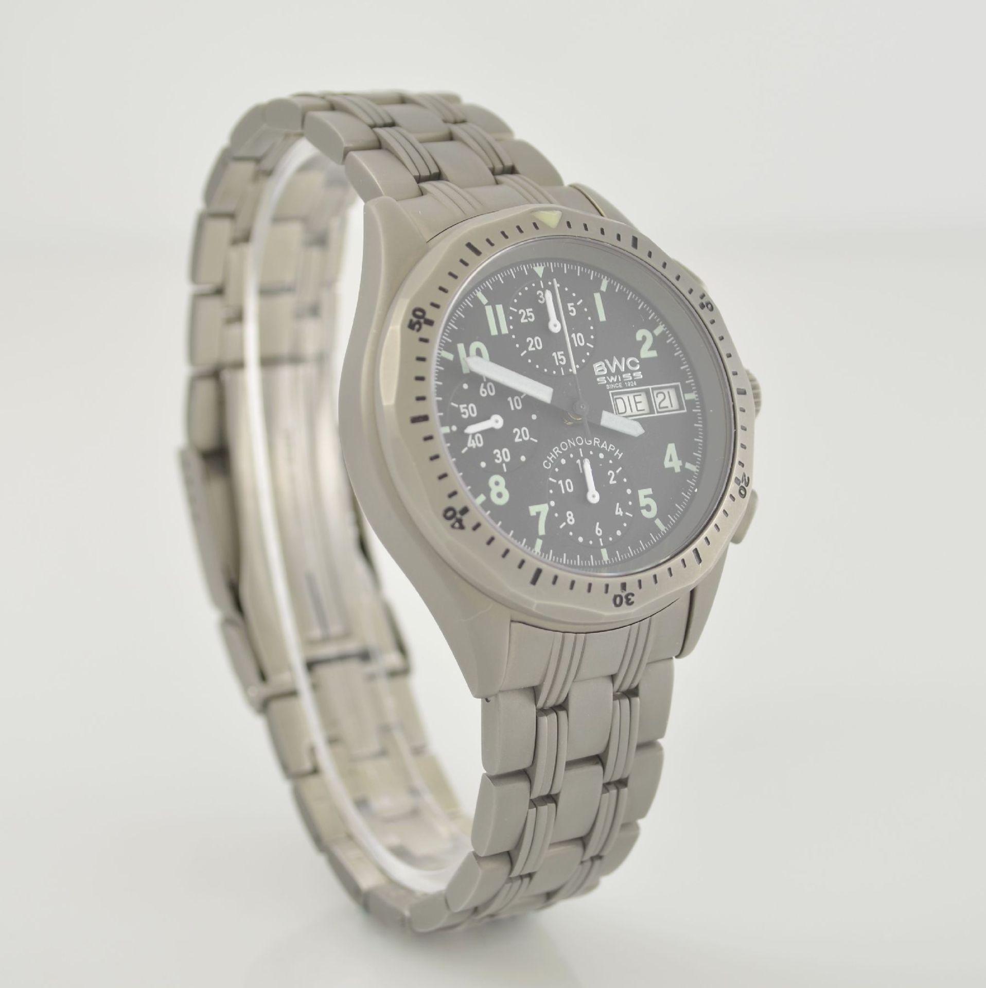 BWC Armbandchronograph, Automatik, Schweiz um 2010, matt. Edelstahlgeh. inkl. orig. Gliederband m. - Bild 4 aus 7