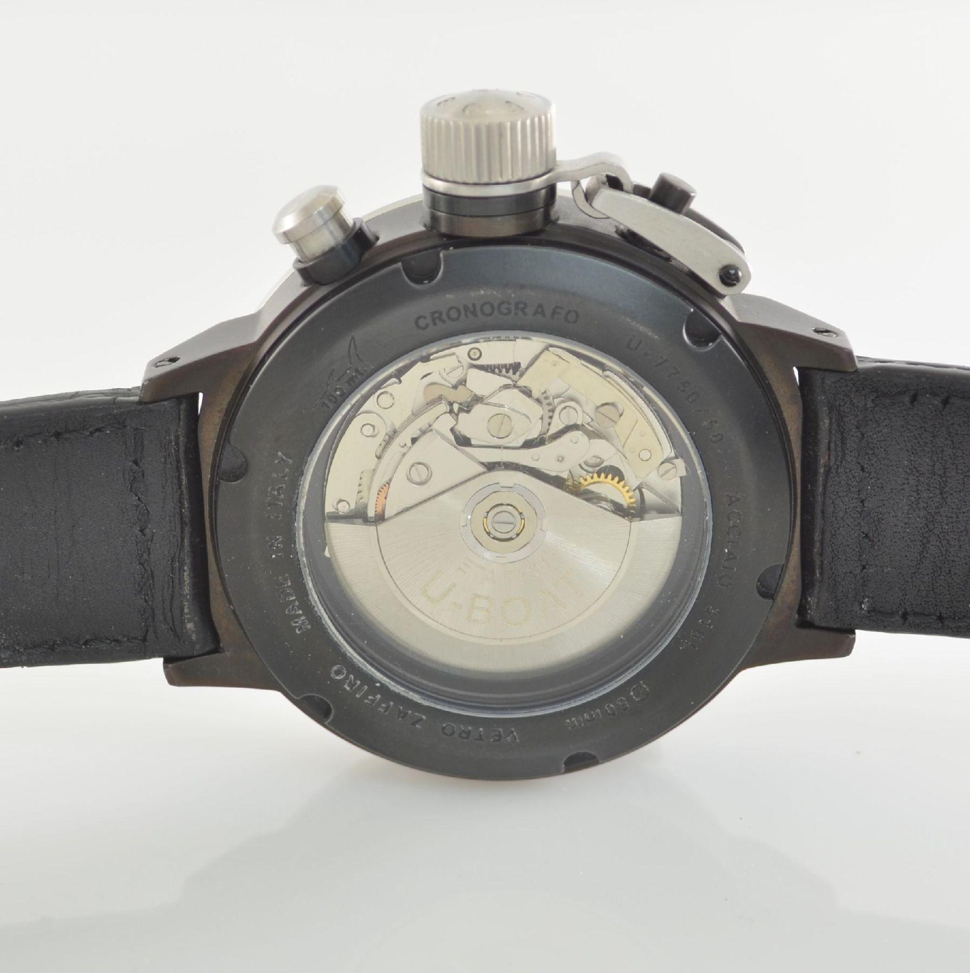 U-BOAT Italo Fontana Herrenarmbanduhr mit Chronograph Model Flightdeck, Automatik, Italien um - Bild 4 aus 5