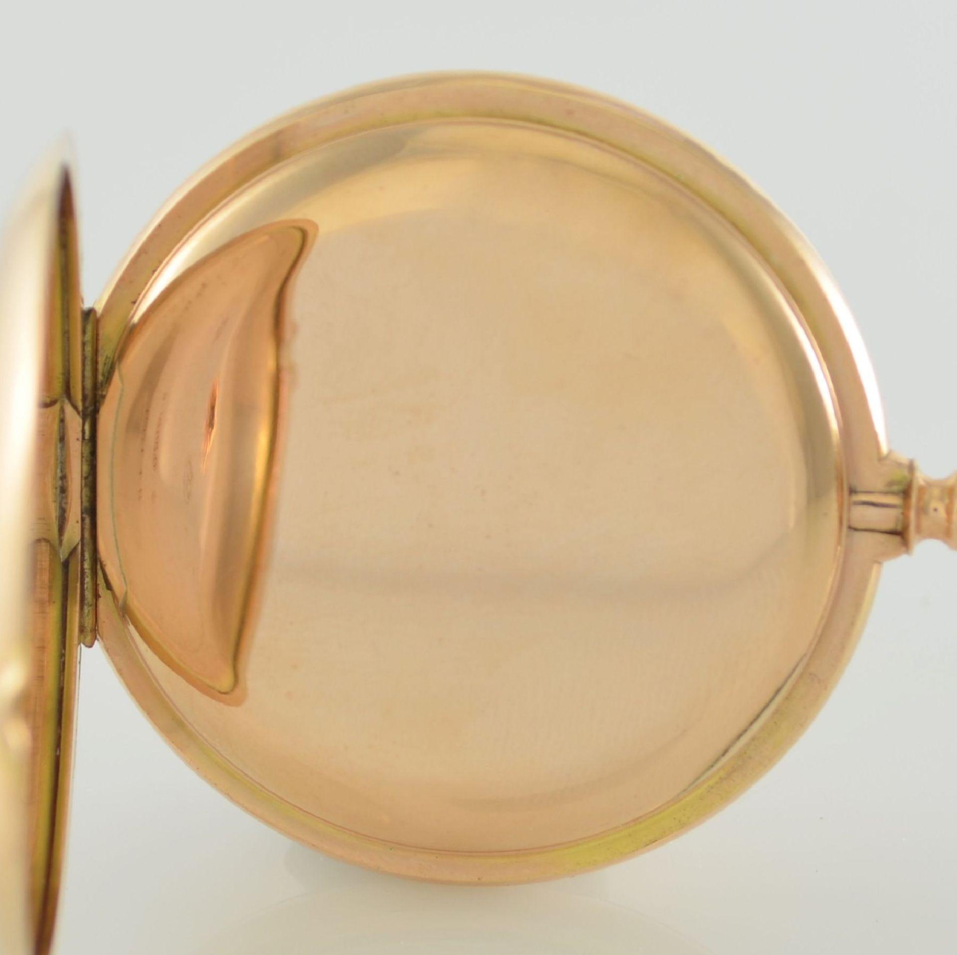 Herrensavonette in RG 585/000, Schweiz um 1900, guill. 3-Deckel Goldgeh. berieben/dell., à-goutte- - Bild 6 aus 7