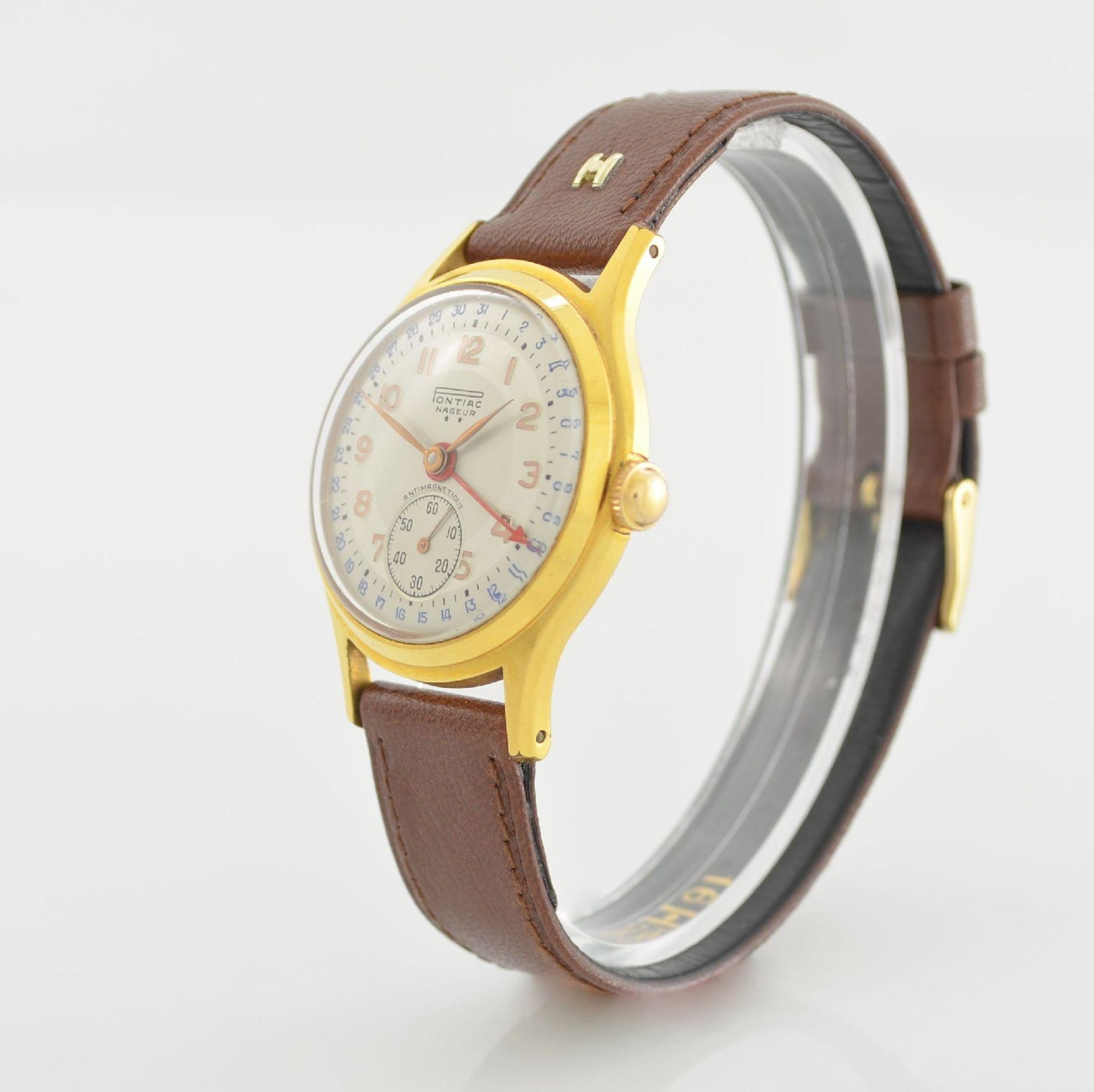 Konvolut: 2 Armbanduhren mit Kalender bzw. Datum, Schweiz um 1950-1960, Handaufzug, 1) NACAR m. - Bild 9 aus 12