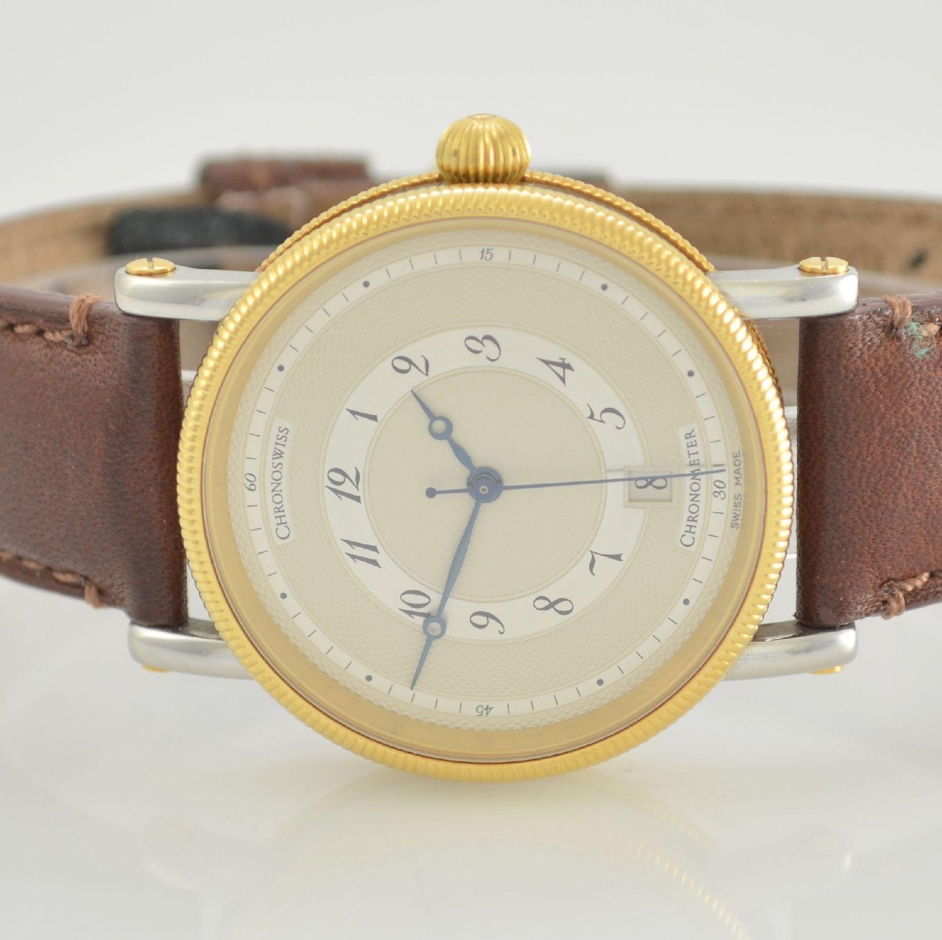 CHRONOSWISS Chronometer Herrenarmbanduhr, Automatik, Ref. CH 2822, Edelstahl/Gold kombiniert inkl. - Bild 2 aus 7