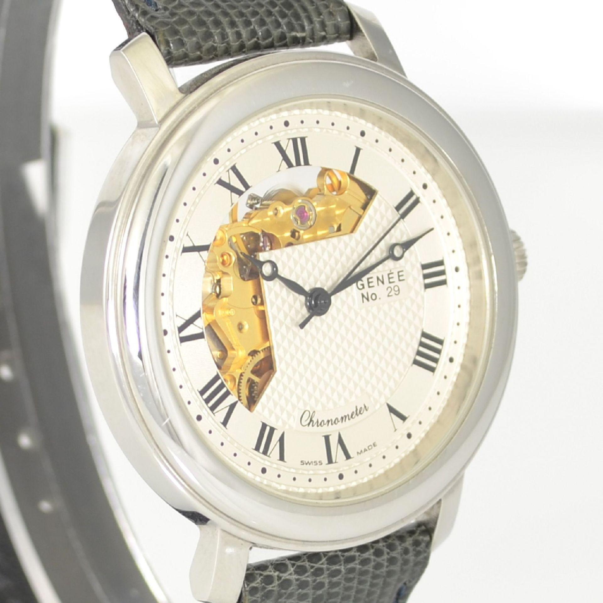 GENÉE No. 29 Chronometer-Herrenarmbanduhr in Stahl, Schweiz lt. beiliegendem Chronometerzertifikat - Bild 4 aus 8