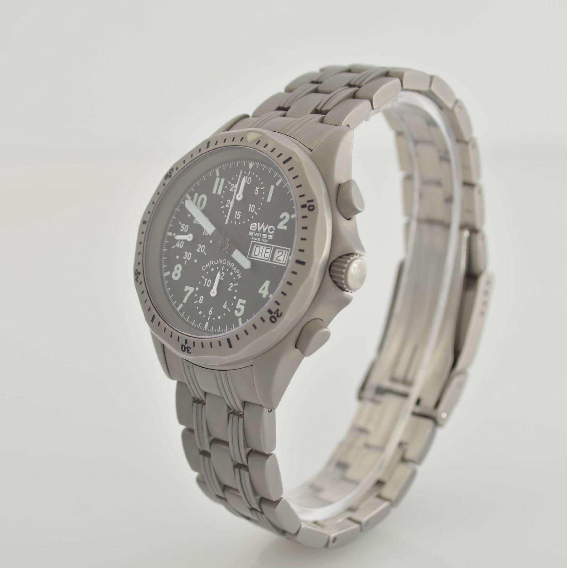 BWC Armbandchronograph, Automatik, Schweiz um 2010, matt. Edelstahlgeh. inkl. orig. Gliederband m. - Bild 3 aus 7