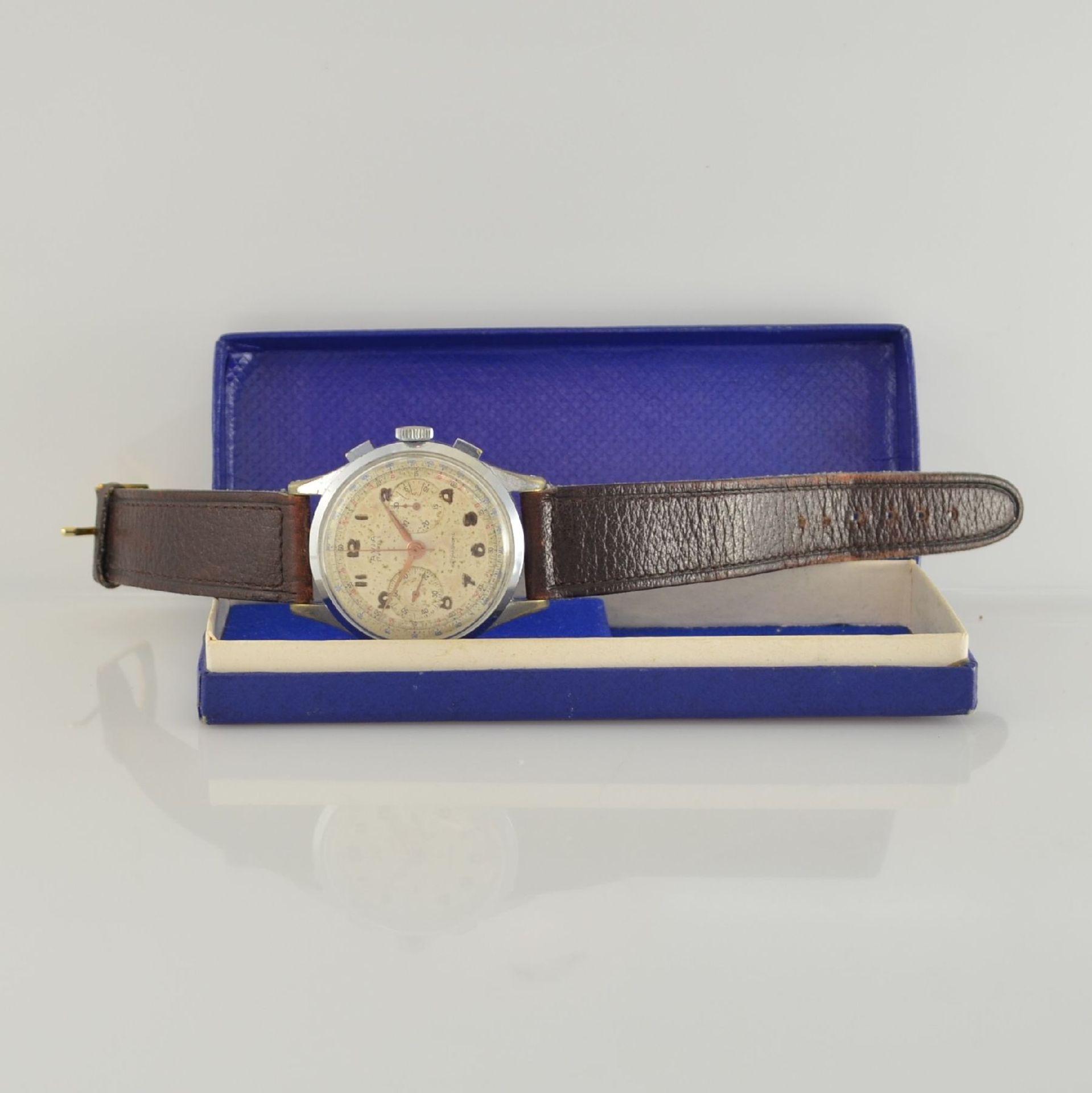 AVIA Armbandchronograph, Handaufzug, Schweiz für den dtsch. Markt um 1940, verchr. Metallgeh. - Bild 7 aus 10