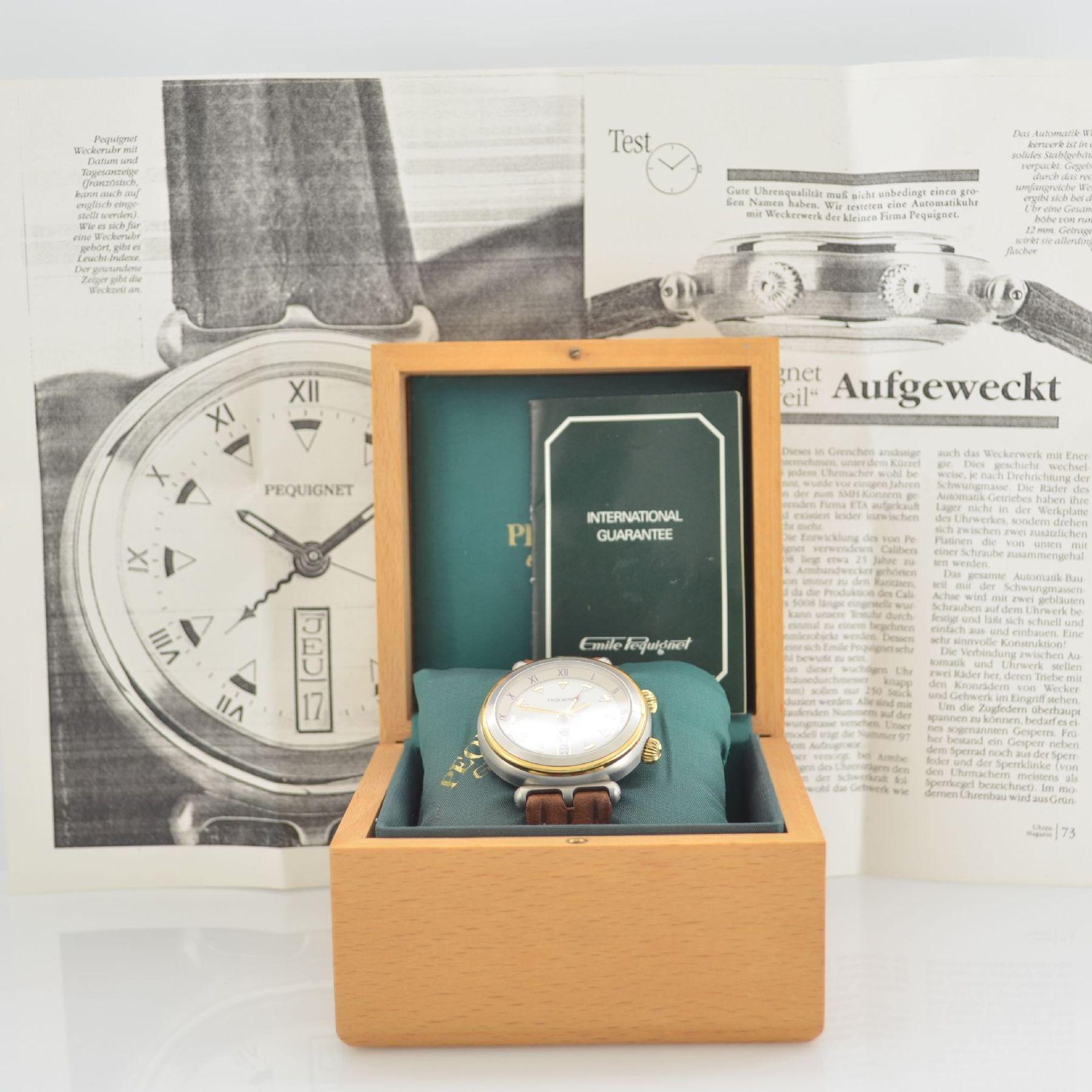 BUCHERER Chronometer Herrenarmbanduhr Archimedes in Edelstahl, Automatik, Gliederband m. dopp. - Bild 7 aus 7