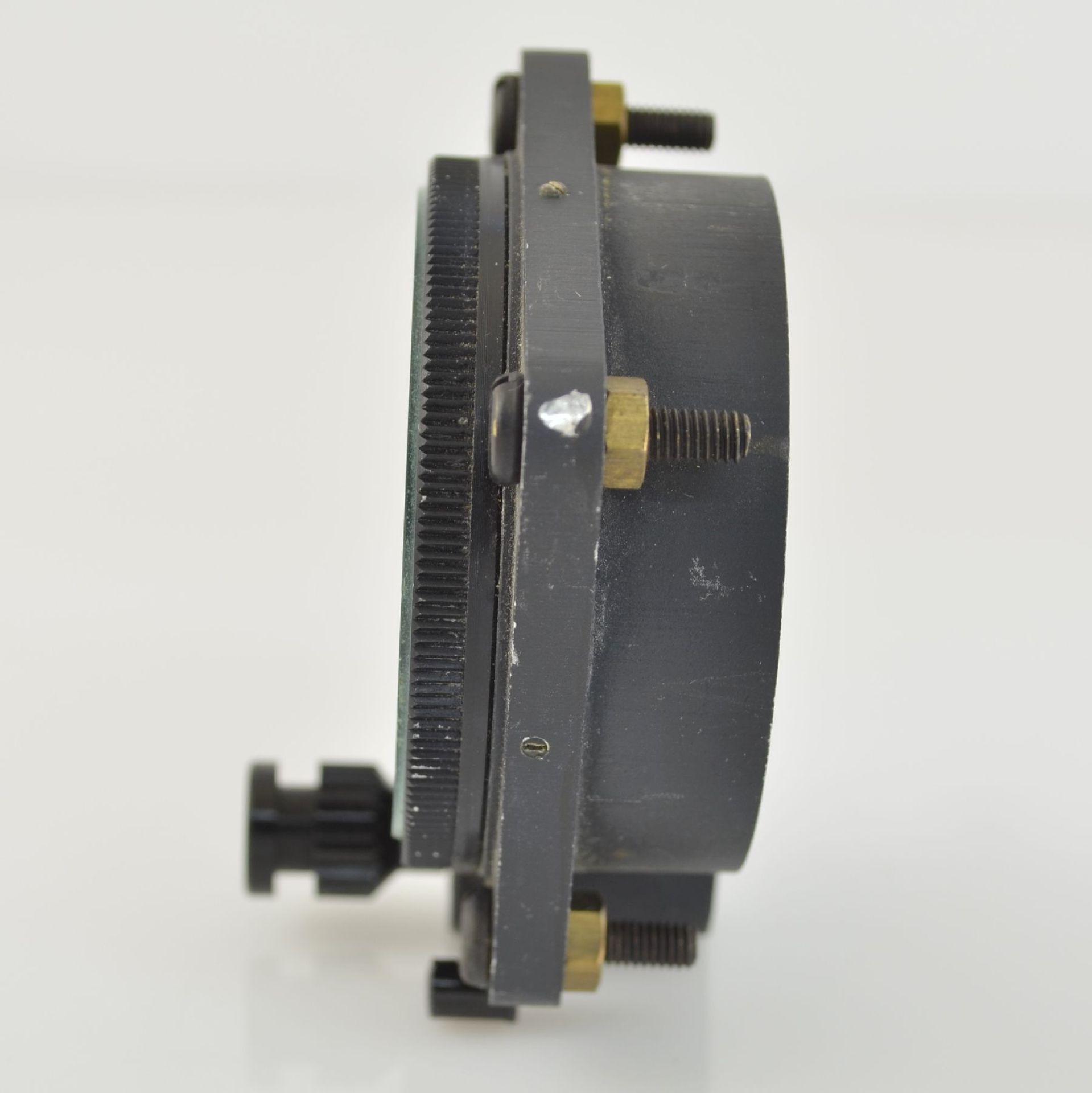 SPORTING TYPE 11 Borduhr mit Chronograph (Dashboard), Schweiz um 1970, geschwärztes Metallgeh., - Bild 4 aus 7