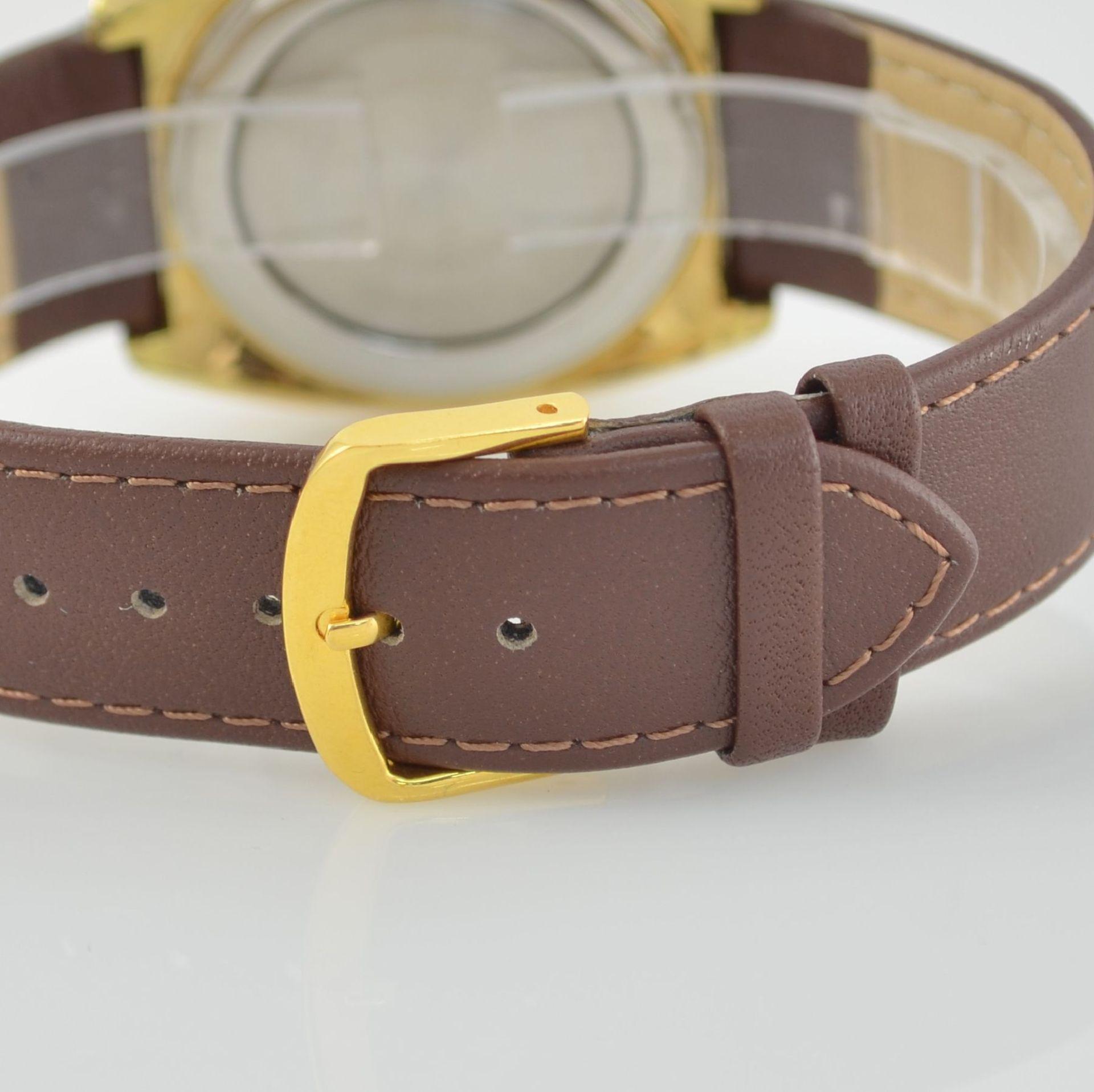 Konvolut: 2 Armbanduhren, beide Schweiz um 1970, beide Metall verg., 1 x Arsa Armbandwecker, Boden - Bild 5 aus 12
