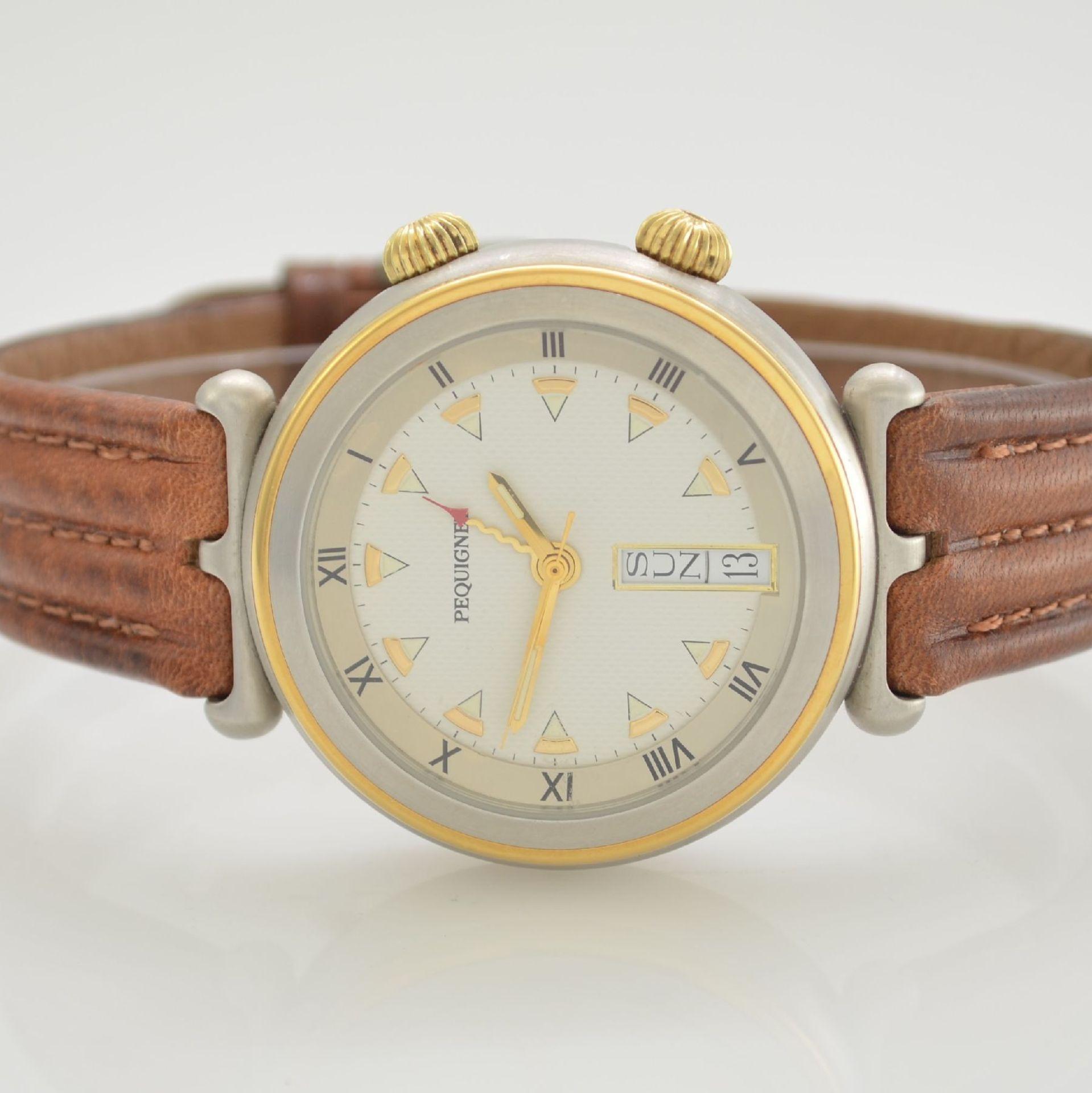 BUCHERER Chronometer Herrenarmbanduhr Archimedes in Edelstahl, Automatik, Gliederband m. dopp. - Bild 2 aus 7