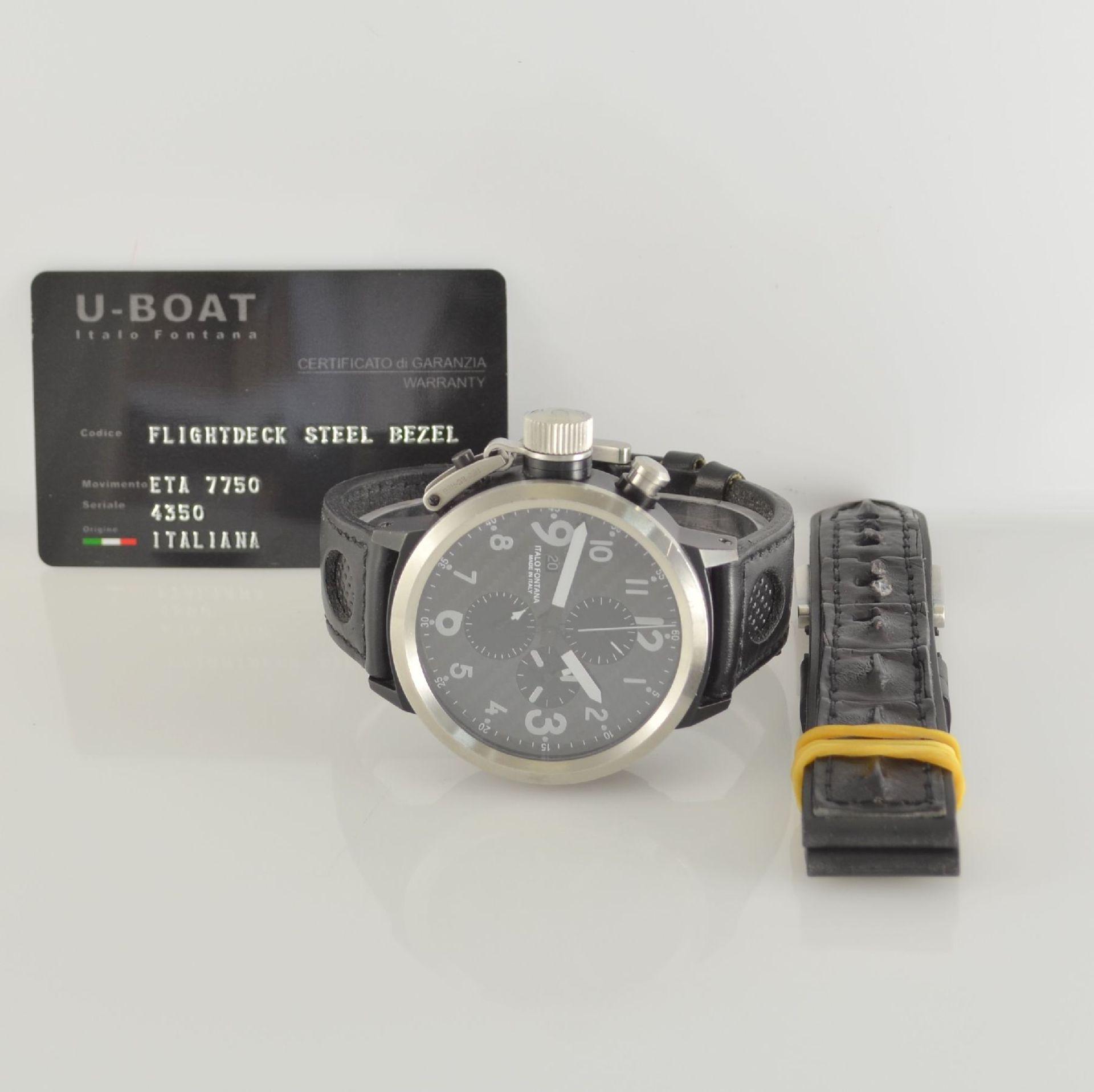 U-BOAT Italo Fontana Herrenarmbanduhr mit Chronograph Model Flightdeck, Automatik, Italien um - Bild 5 aus 5