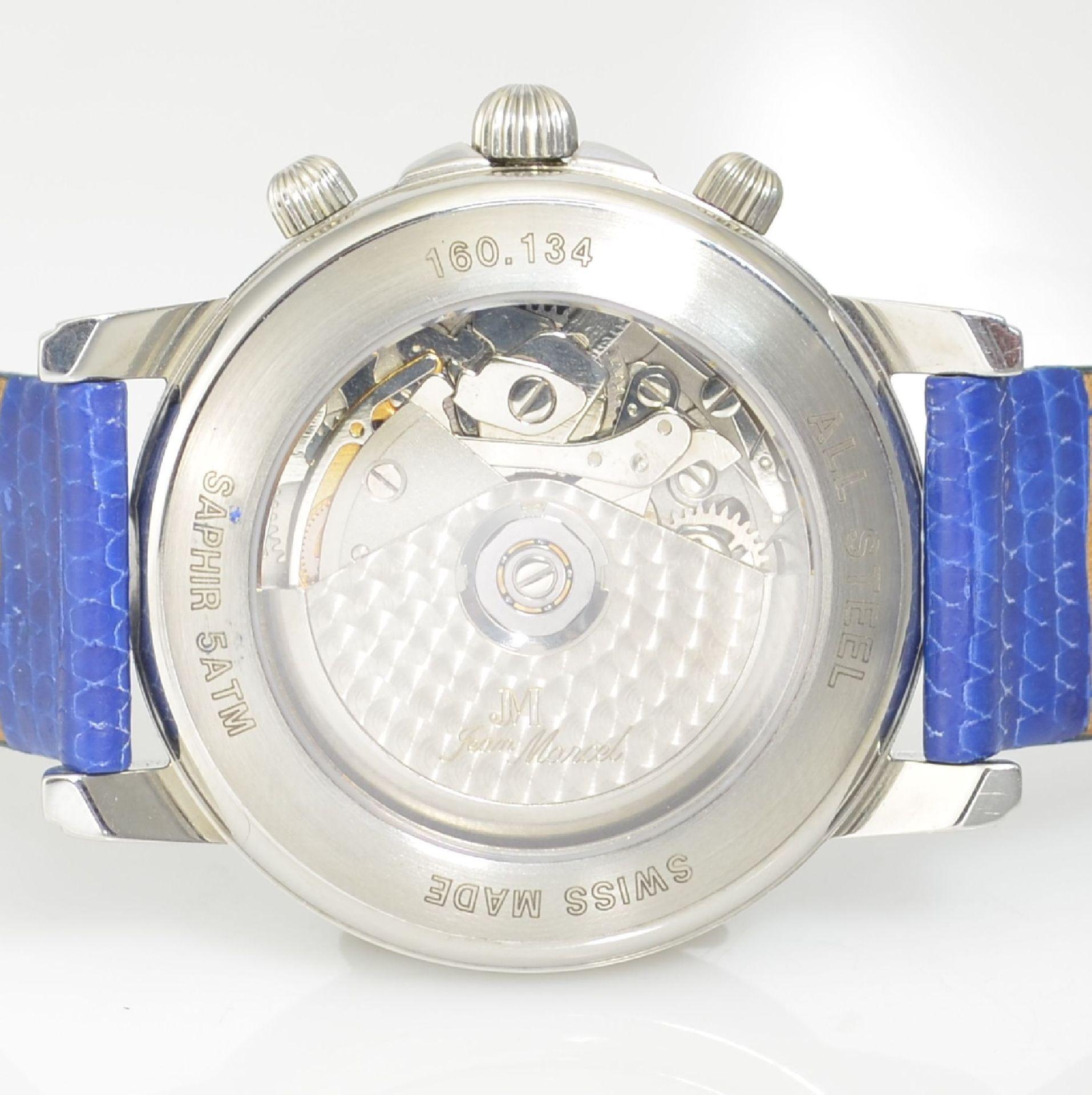 JEAN MARCEL Herrenarmbanduhr mit Chronograph, Schweiz um 2000, Automatik, Ref. 160.134, beids. - Bild 6 aus 7