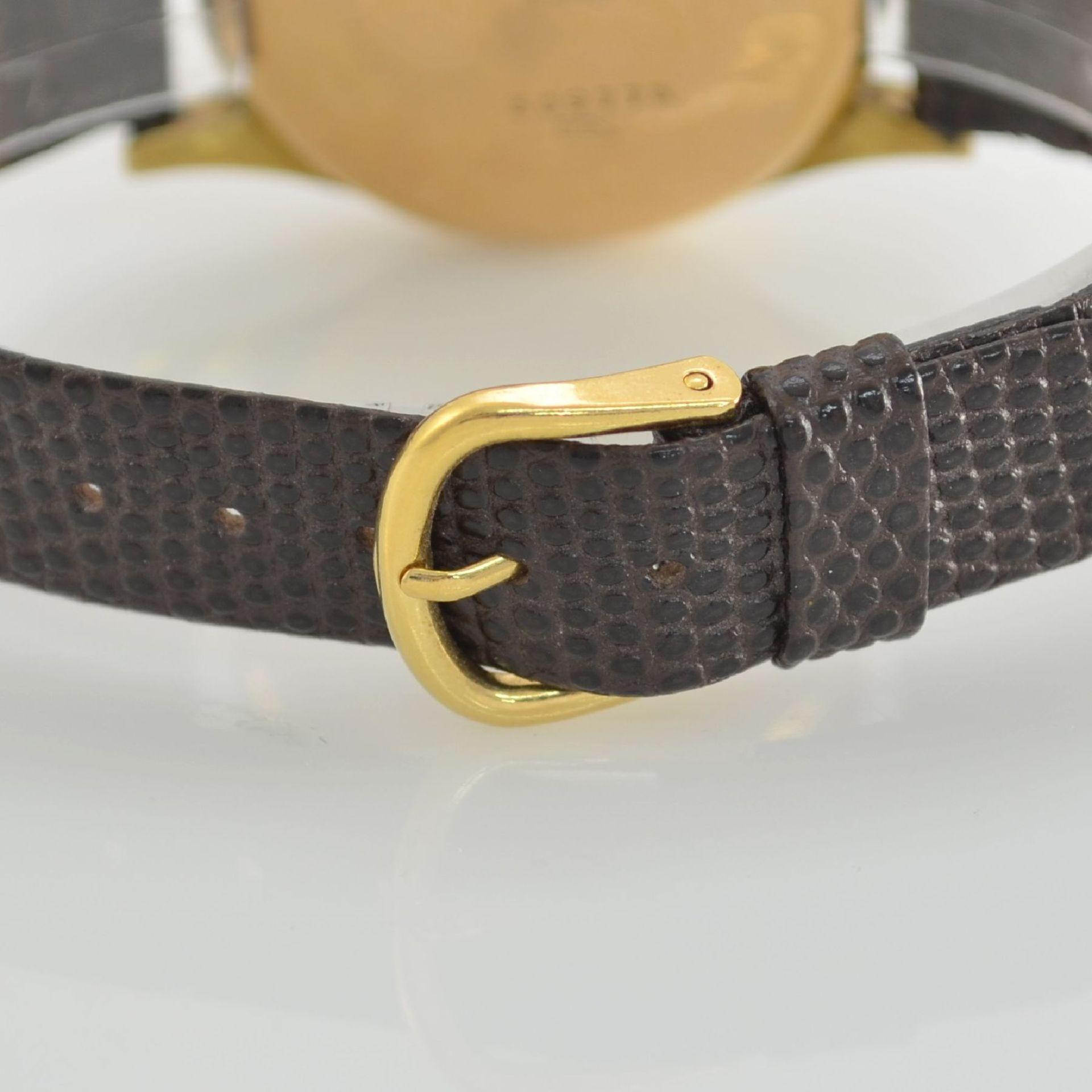 JOLUS Armbandchronograph in RoseG 750/000, Handaufzug, Schweiz um 1948, Boden & verg. Glasrand - Bild 6 aus 8