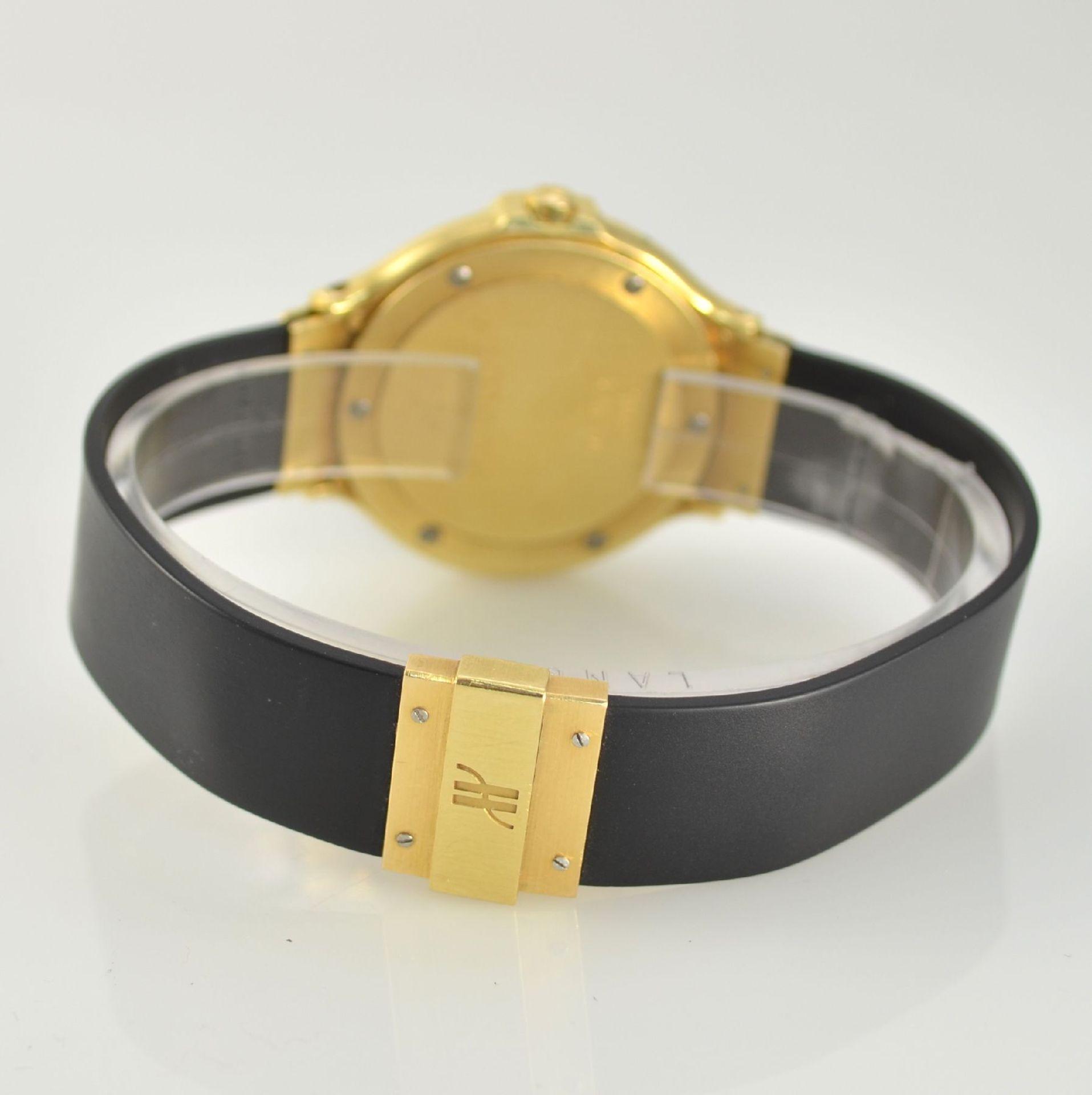 HUBLOT MDM Armbanduhr in GG 750/000, Schweiz um 1995, quarz, Ref. 140.10.3, massives Goldgeh., Boden - Bild 6 aus 7