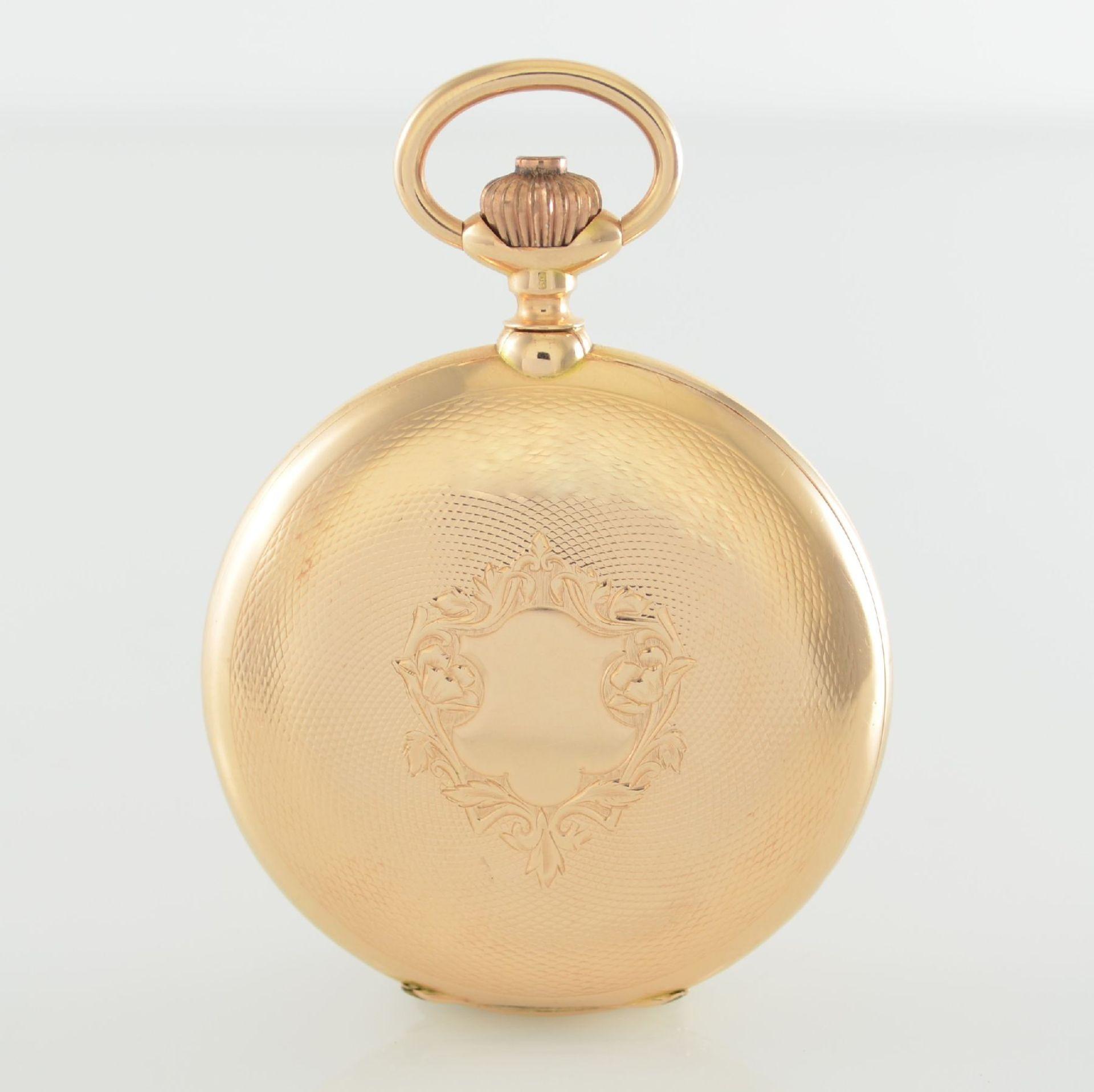 Herrensavonette in RG 585/000, Schweiz um 1900, guill. 3-Deckel Goldgeh. berieben/dell., à-goutte- - Bild 4 aus 7