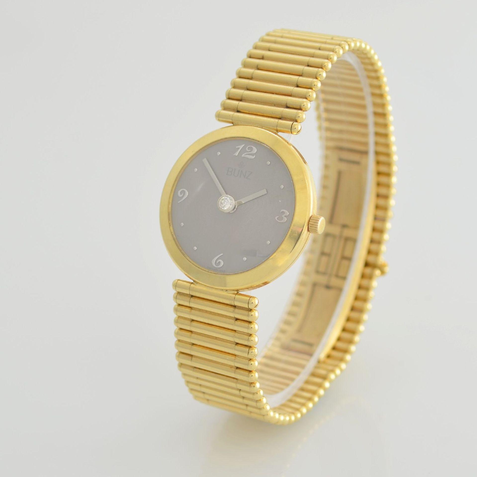 """BUNZ Damenarmbanduhr """"Diamondwatch"""" in GG 750/000, 5-fach verschr. Geh. mit integr. GG 750/000 - Bild 3 aus 9"""