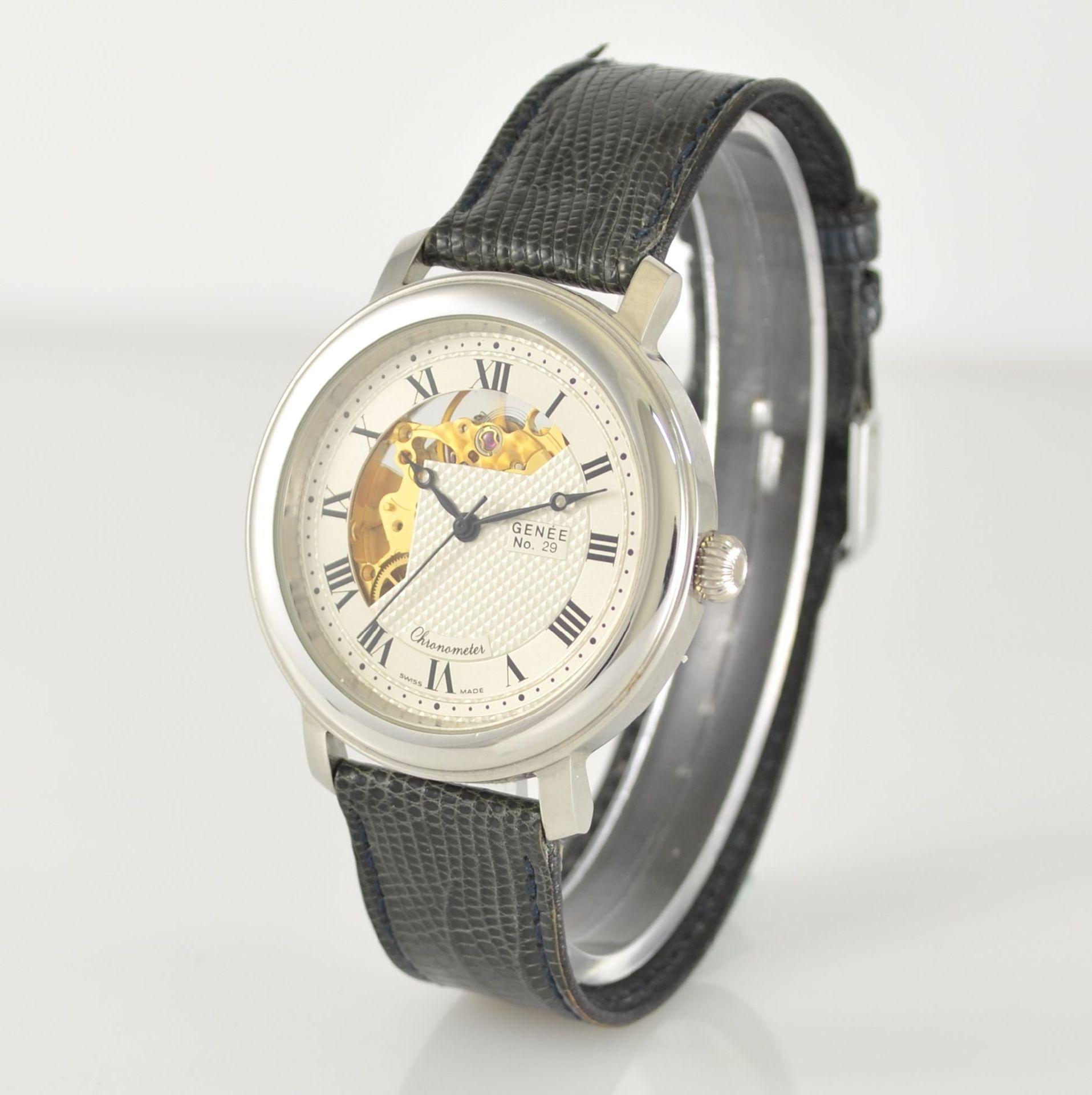 GENÉE No. 29 Chronometer-Herrenarmbanduhr in Stahl, Schweiz lt. beiliegendem Chronometerzertifikat - Bild 3 aus 8