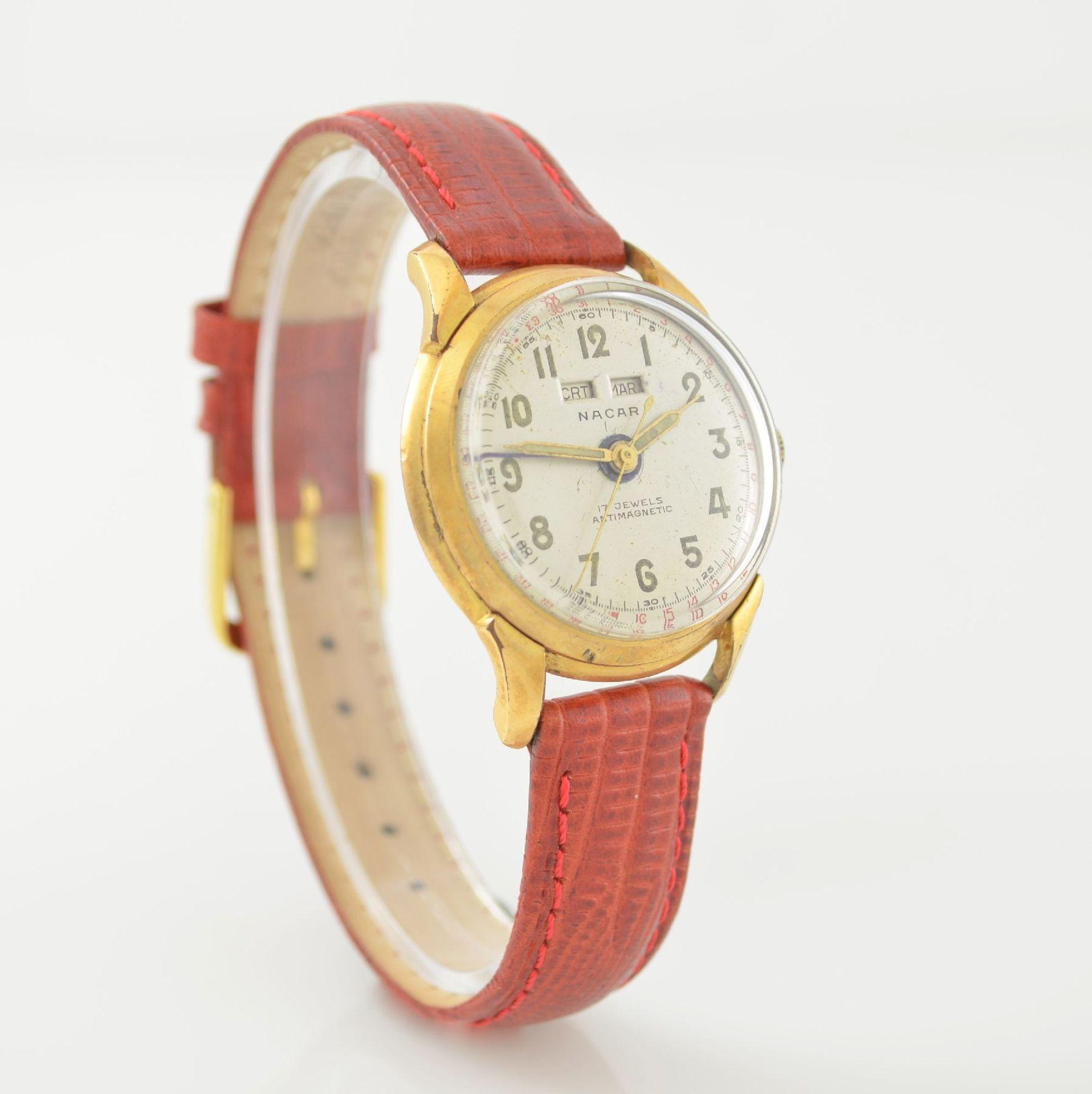 Konvolut: 2 Armbanduhren mit Kalender bzw. Datum, Schweiz um 1950-1960, Handaufzug, 1) NACAR m. - Bild 4 aus 12