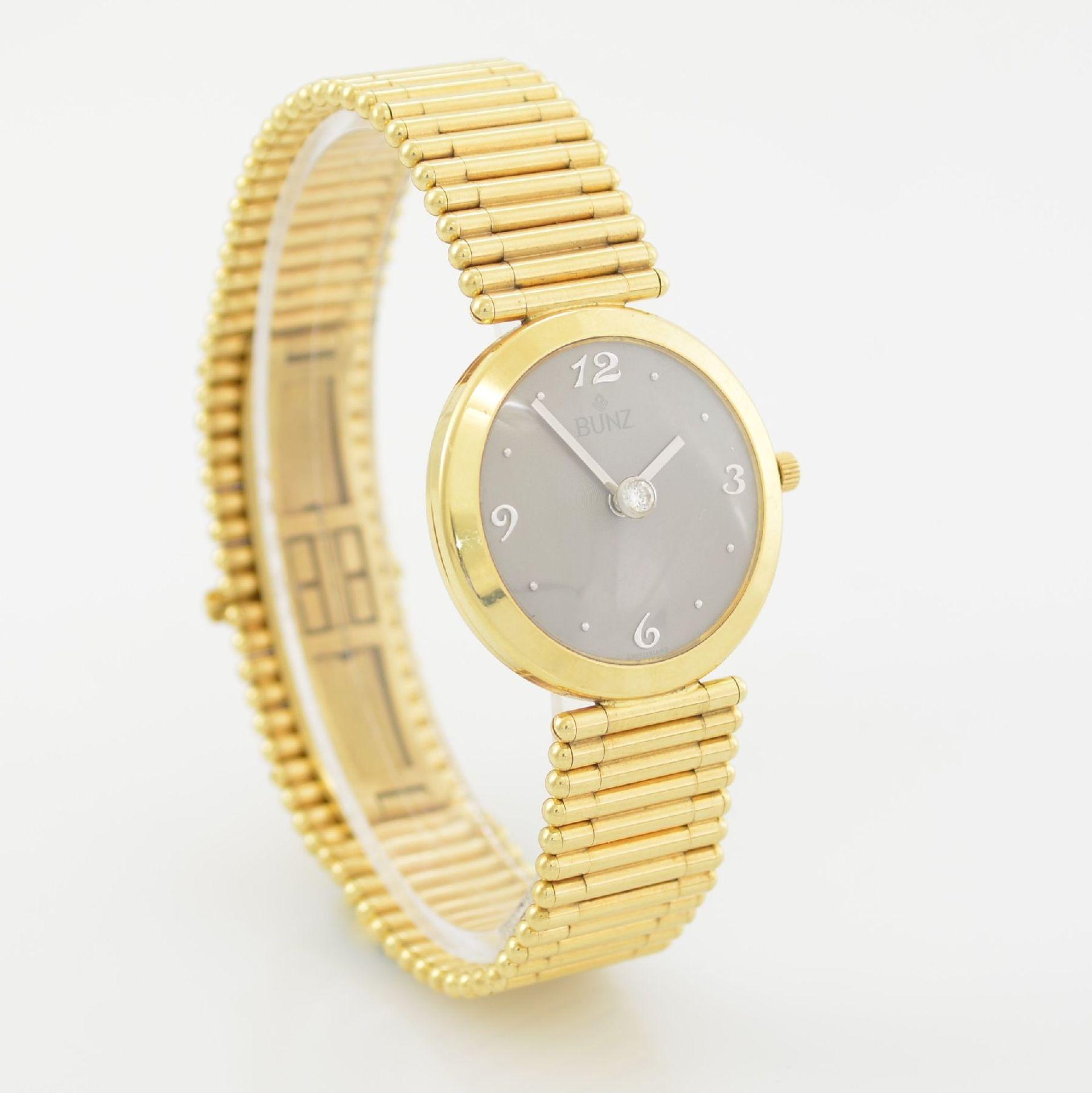 """BUNZ Damenarmbanduhr """"Diamondwatch"""" in GG 750/000, 5-fach verschr. Geh. mit integr. GG 750/000 - Bild 5 aus 9"""