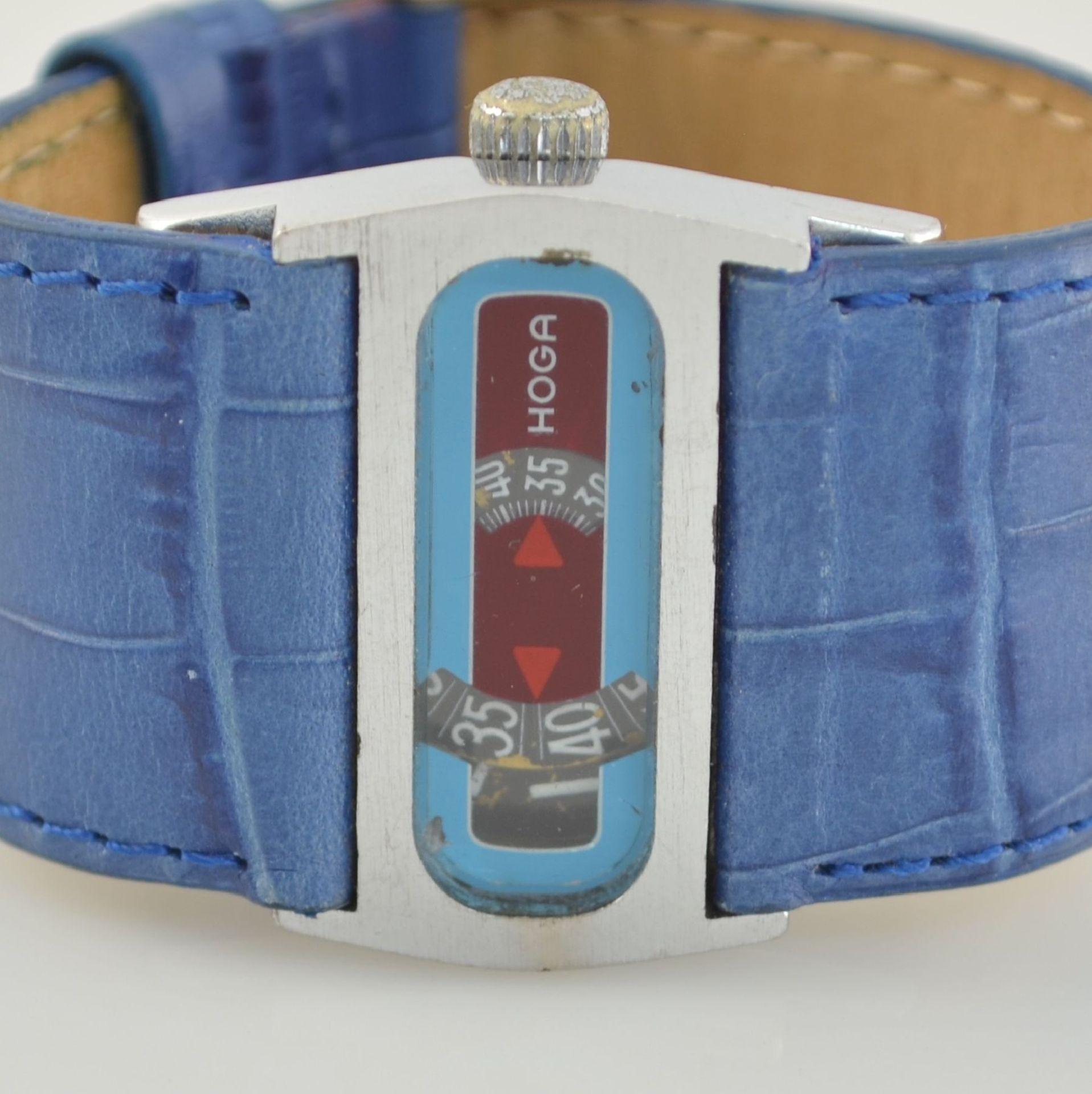 HOGA/Direct Time Armbanduhr mit digitaler Zeitanzeige Kal. AS 1902, Schweiz um 1970, Automatik, - Bild 2 aus 6