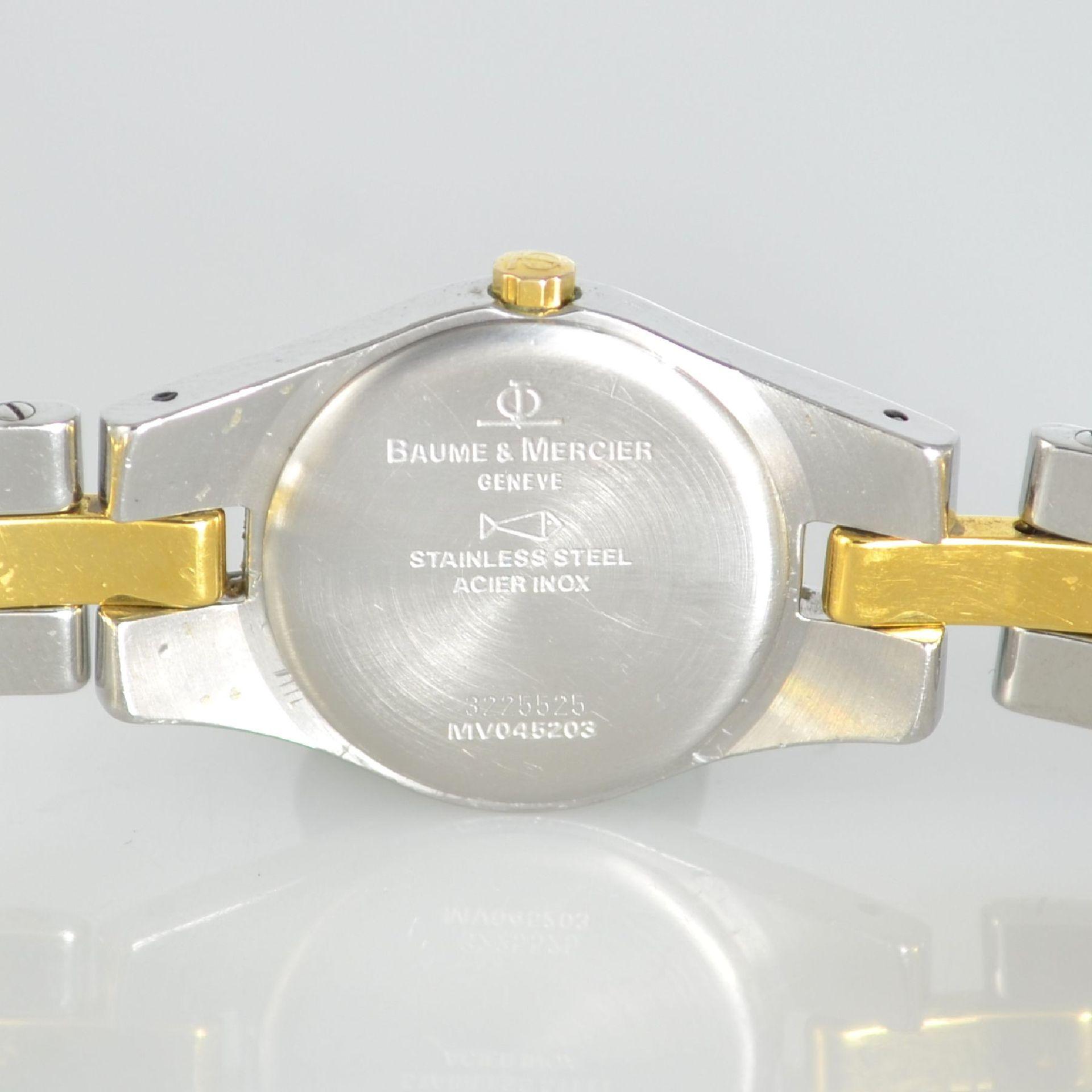 BAUME & MERCIER Damenarmbanduhr in Stahl/ vergoldet, Schweiz um 2000, gedr. Geh. m. integr. - Bild 6 aus 6