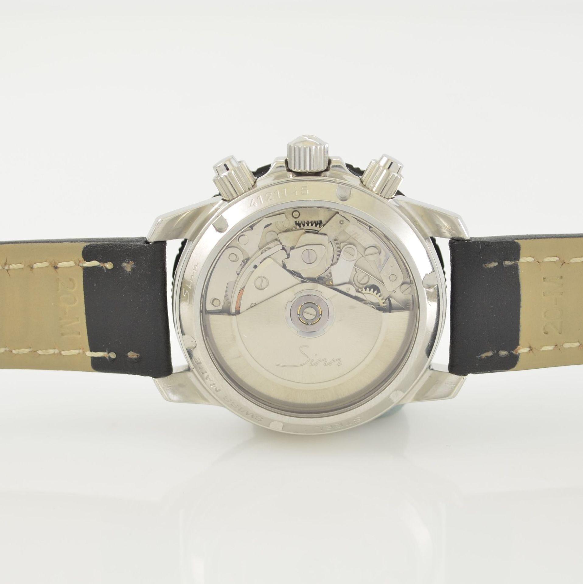 SINN Armbandchronograph, Automatik, Schweiz um 2010, pol. Edelstahlgeh. inkl. orig. Lederband m. - Bild 6 aus 6