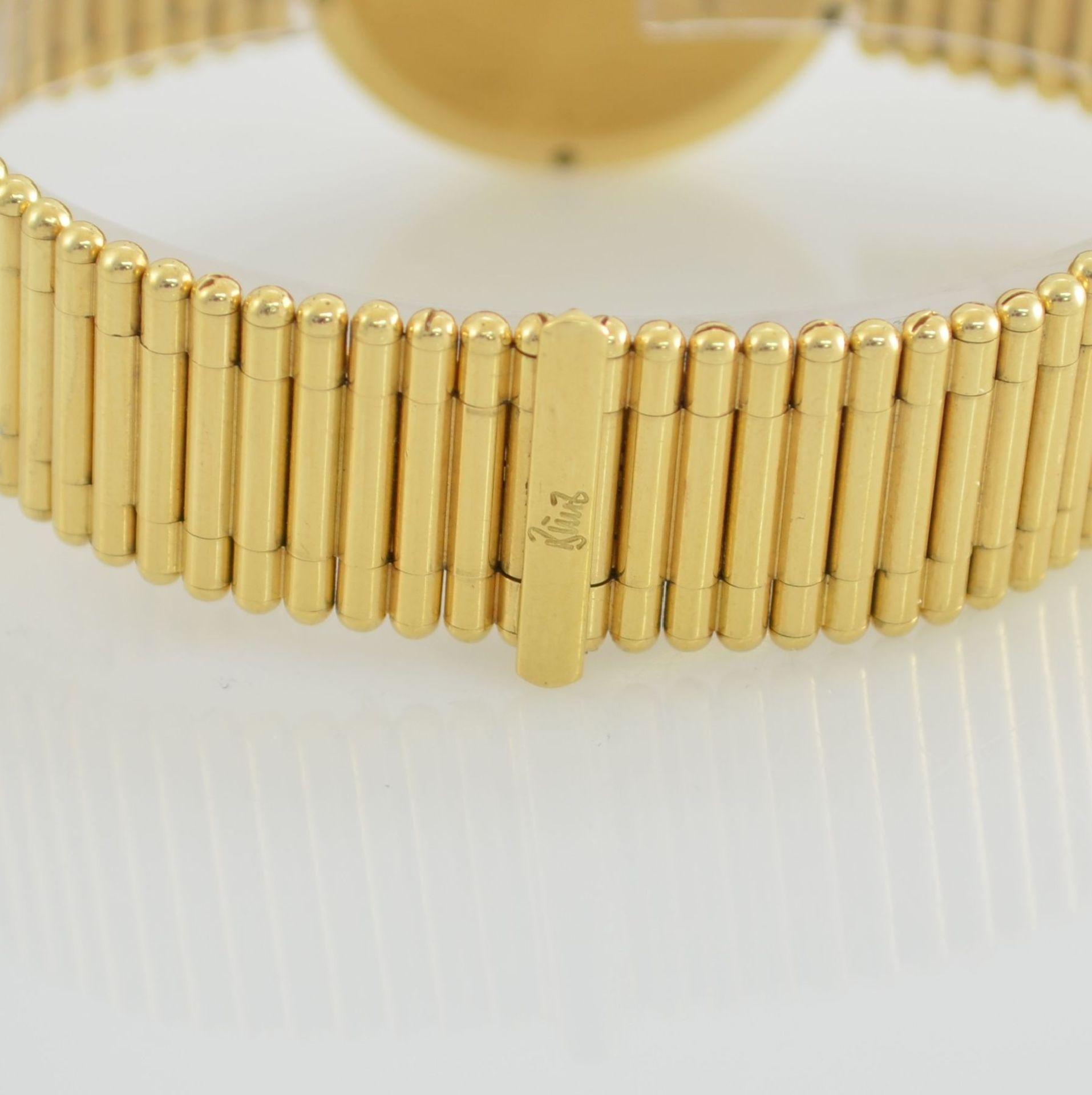 """BUNZ Damenarmbanduhr """"Diamondwatch"""" in GG 750/000, 5-fach verschr. Geh. mit integr. GG 750/000 - Bild 6 aus 9"""