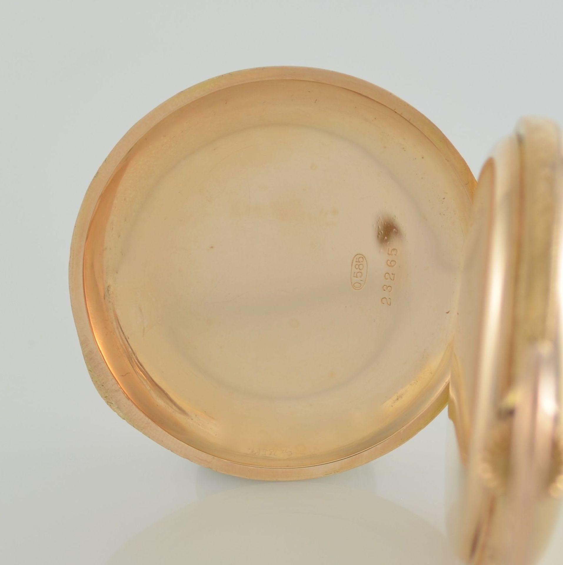 SYSTÉME GLASHÜTTE Herrensavonette in RG 585/000, Schweiz/Deutschland um 1900, glattes 3-Deckel - Bild 6 aus 8