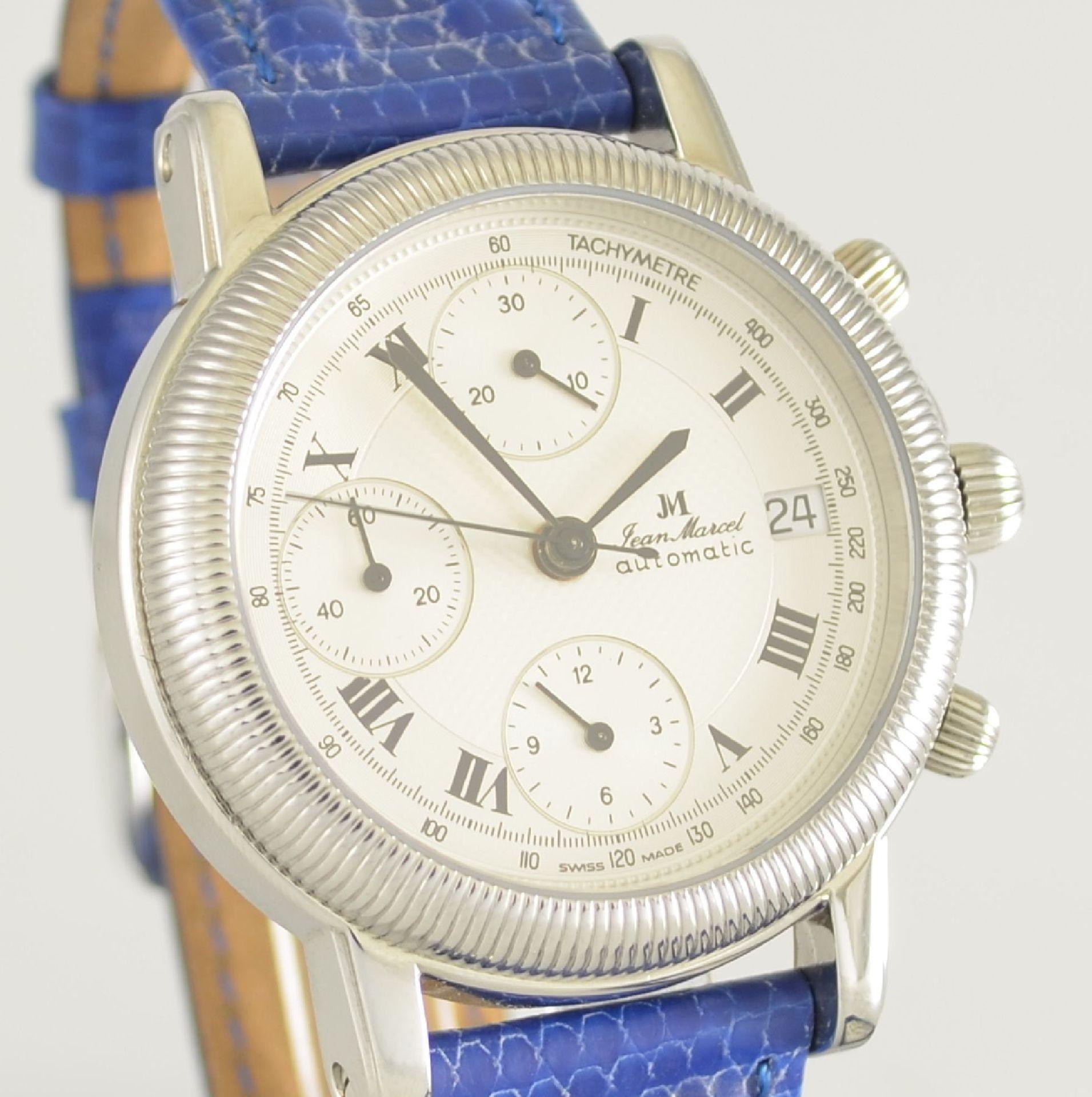 JEAN MARCEL Herrenarmbanduhr mit Chronograph, Schweiz um 2000, Automatik, Ref. 160.134, beids. - Bild 4 aus 7