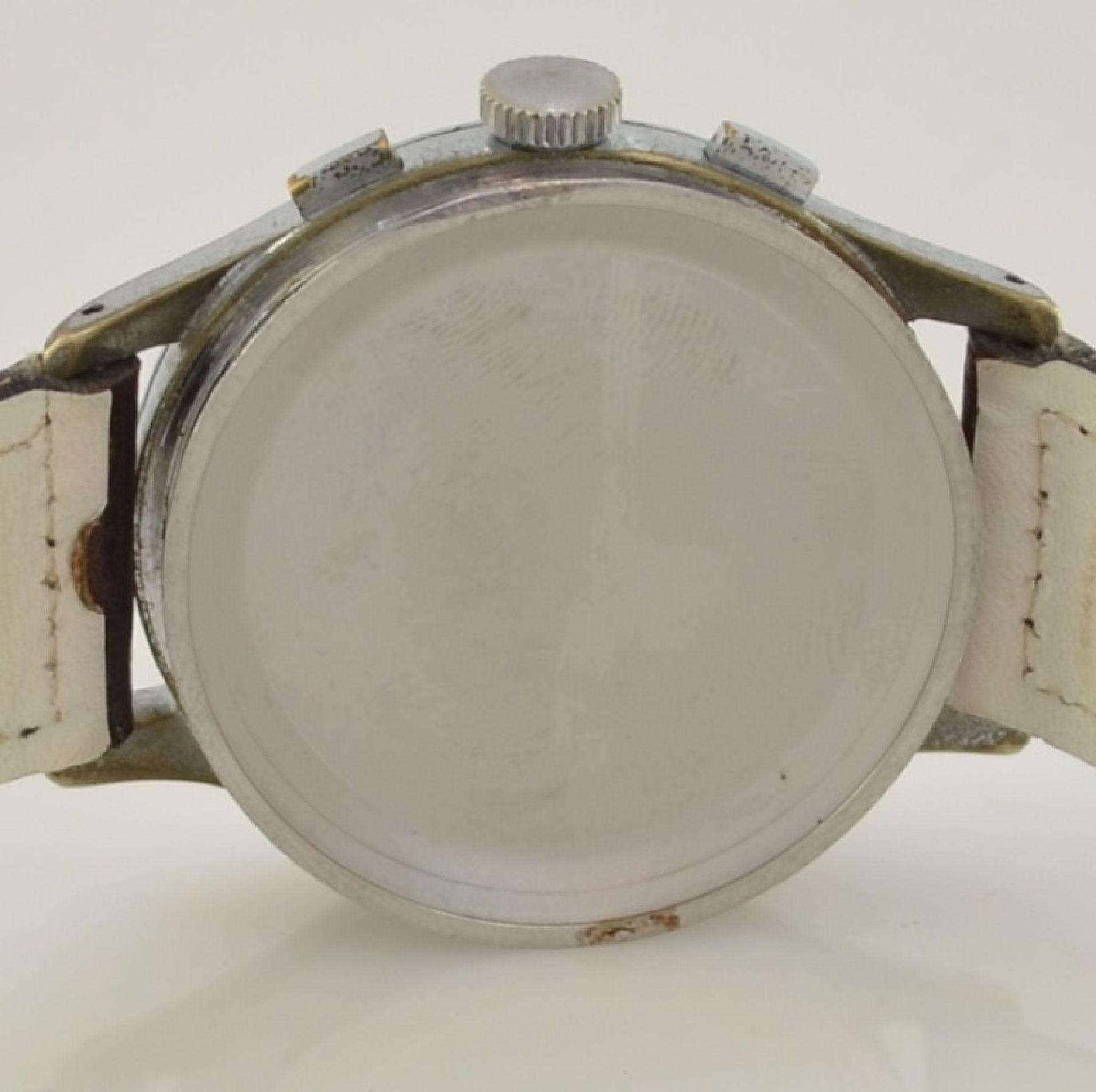 AVIA Armbandchronograph, Handaufzug, Schweiz für den dtsch. Markt um 1940, verchr. Metallgeh. - Bild 10 aus 10