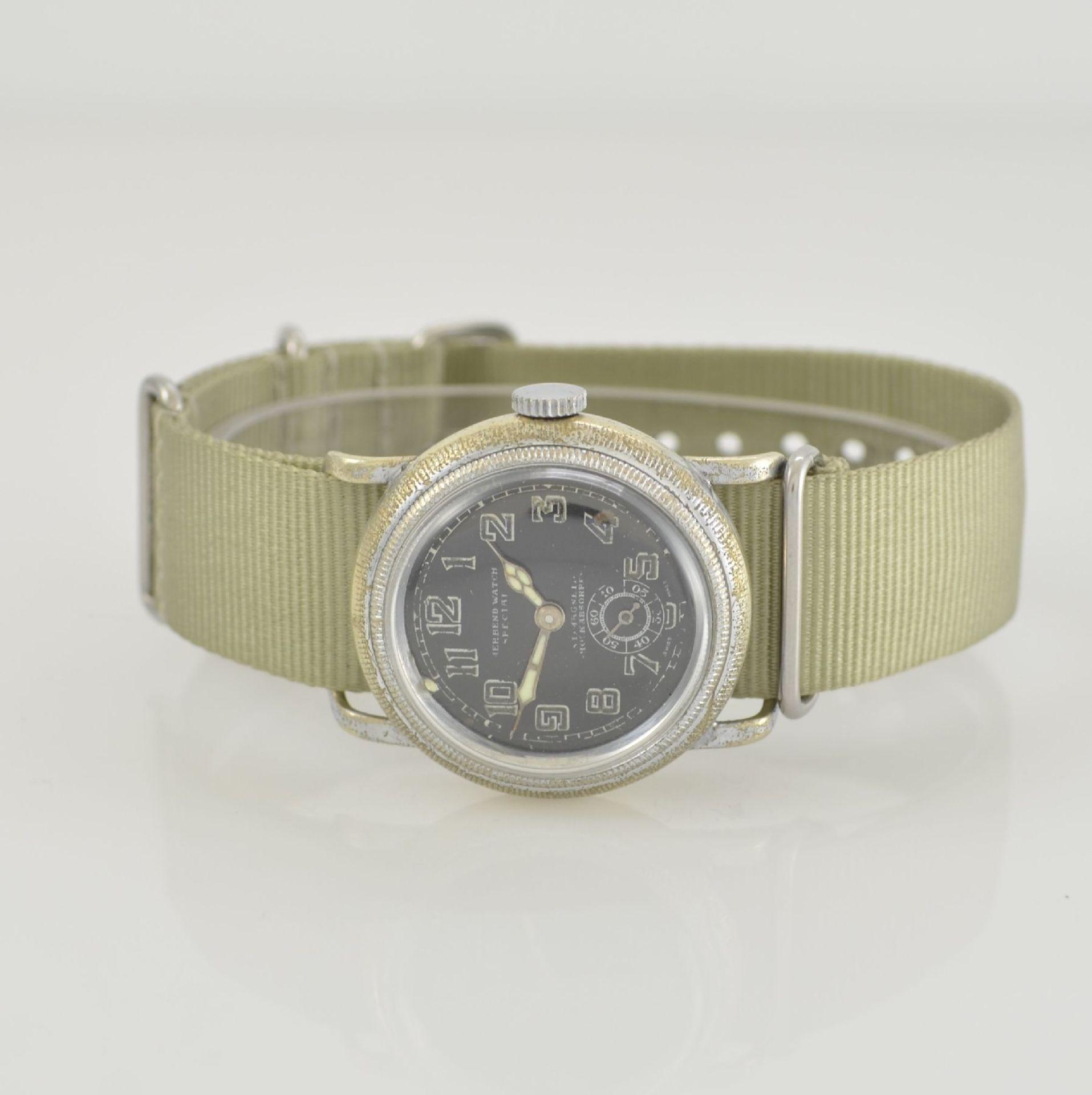 MERBEND WATCH Spezial Antimagnetic Schockabsorber Armbanduhr im Fliegerdesign, Schweiz um 1935,