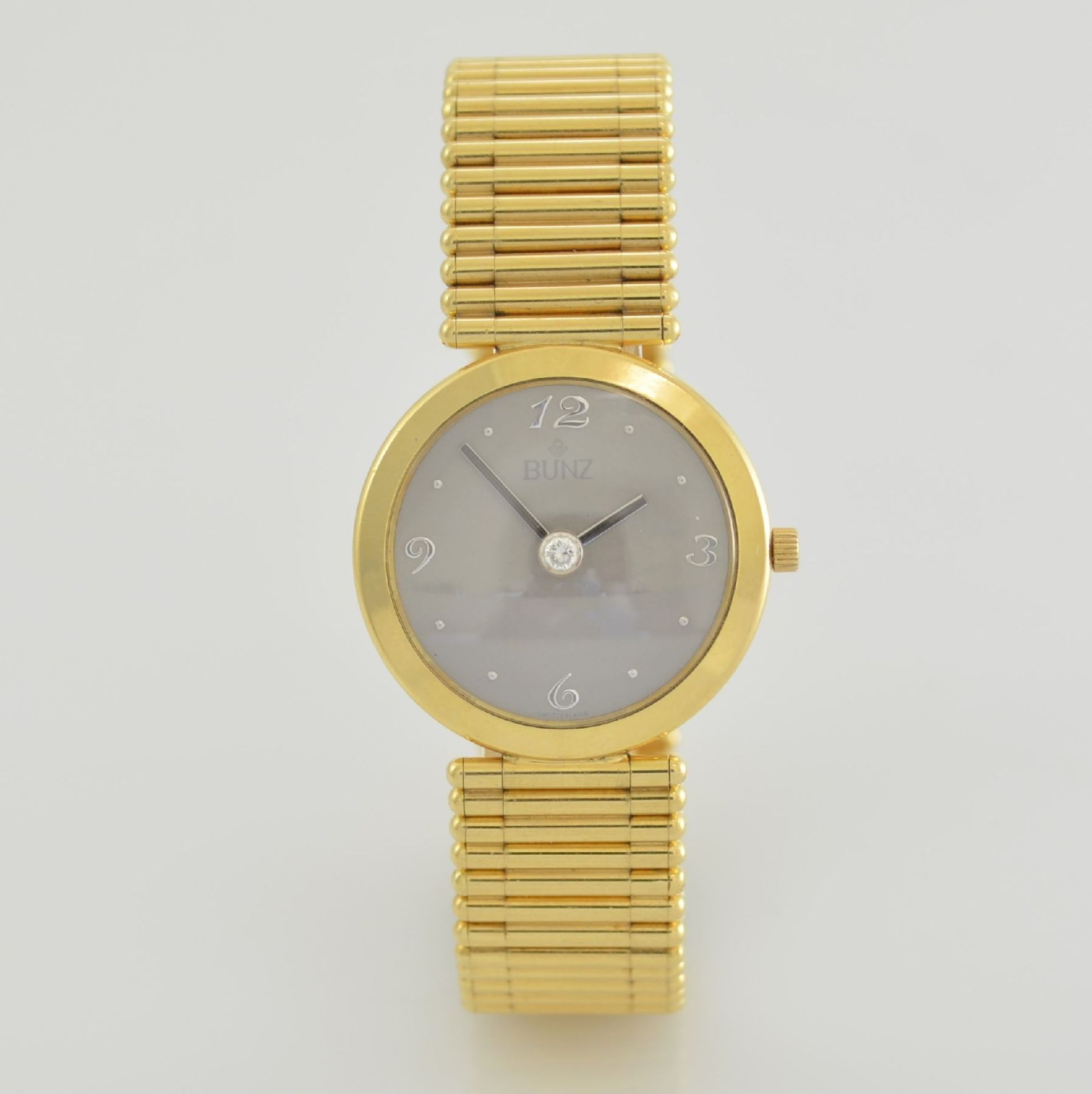 """BUNZ Damenarmbanduhr """"Diamondwatch"""" in GG 750/000, 5-fach verschr. Geh. mit integr. GG 750/000 - Bild 4 aus 9"""