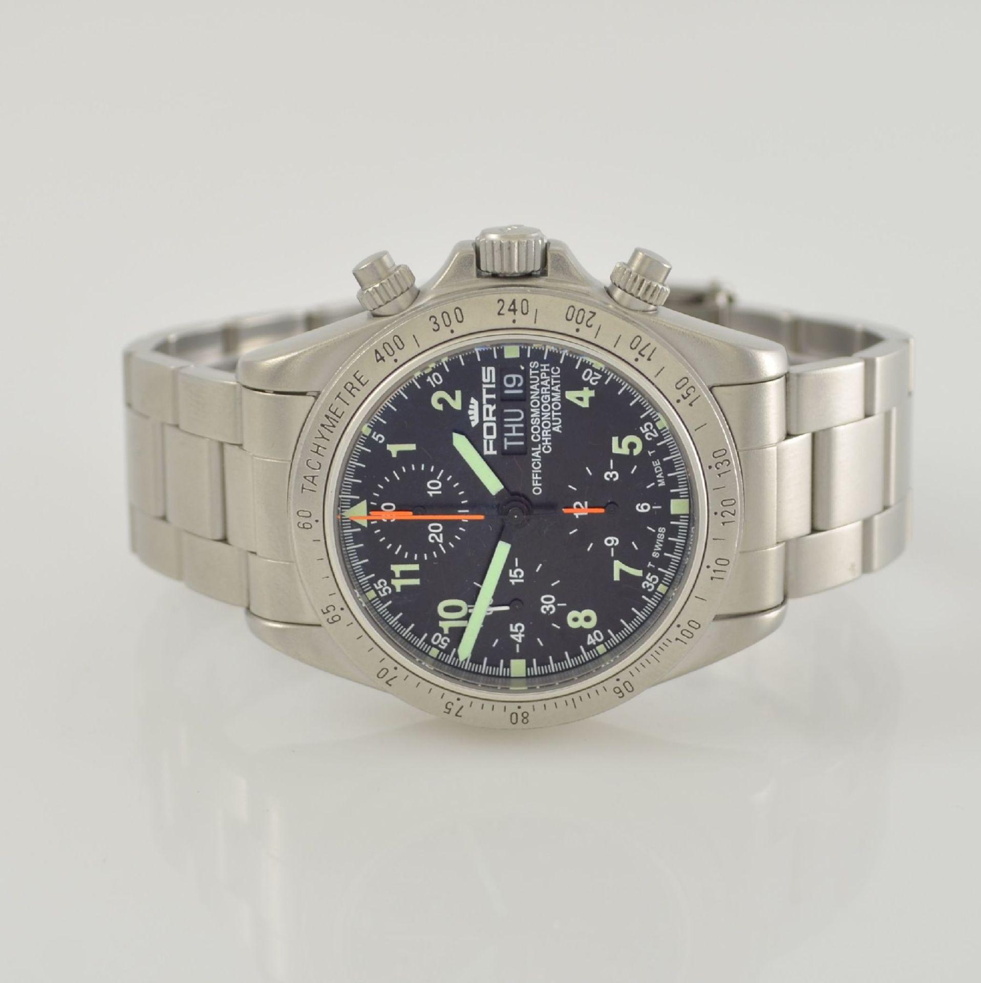 "FORTIS Herrenarmbanduhr ""Cosmonauts Chronograph"", Automatik, Schweiz um 1997, Ref. 630.22.141, matt."