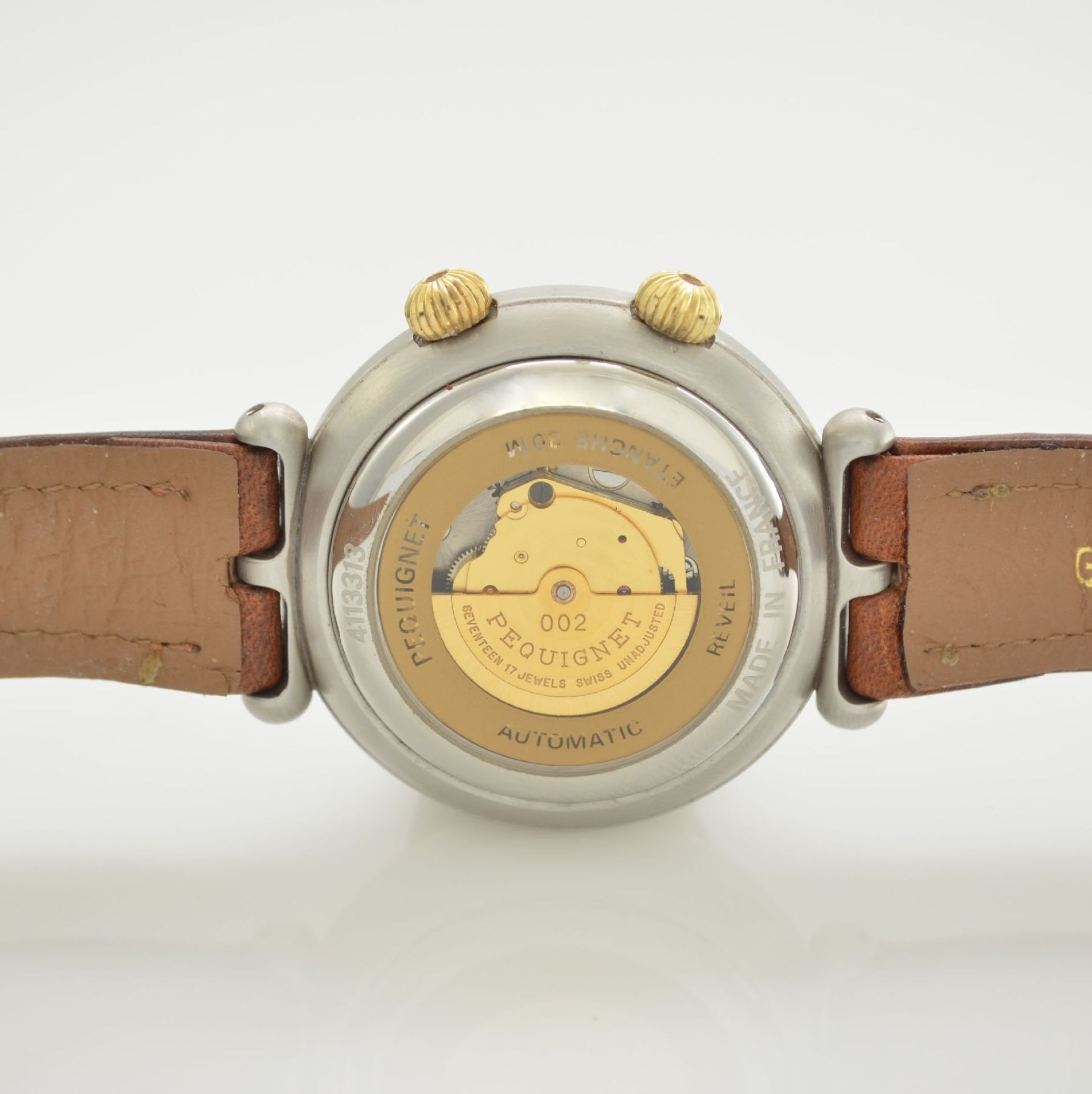 BUCHERER Chronometer Herrenarmbanduhr Archimedes in Edelstahl, Automatik, Gliederband m. dopp. - Bild 6 aus 7