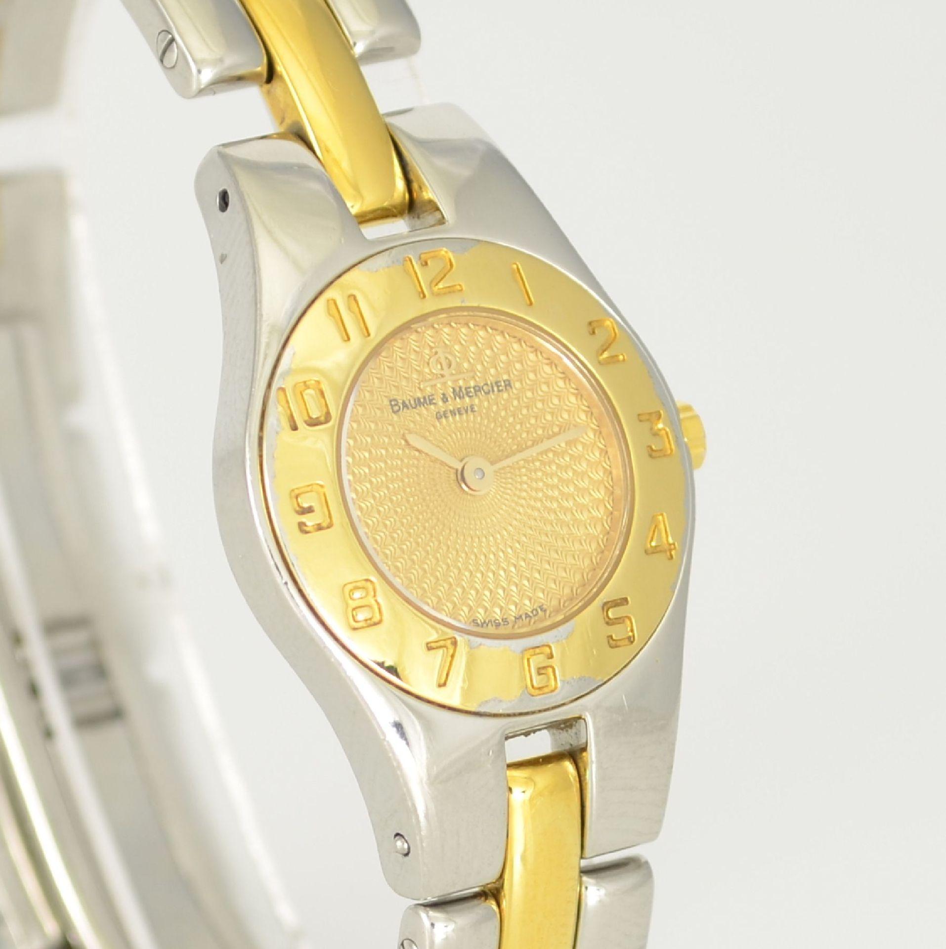 BAUME & MERCIER Damenarmbanduhr in Stahl/ vergoldet, Schweiz um 2000, gedr. Geh. m. integr. - Bild 4 aus 6