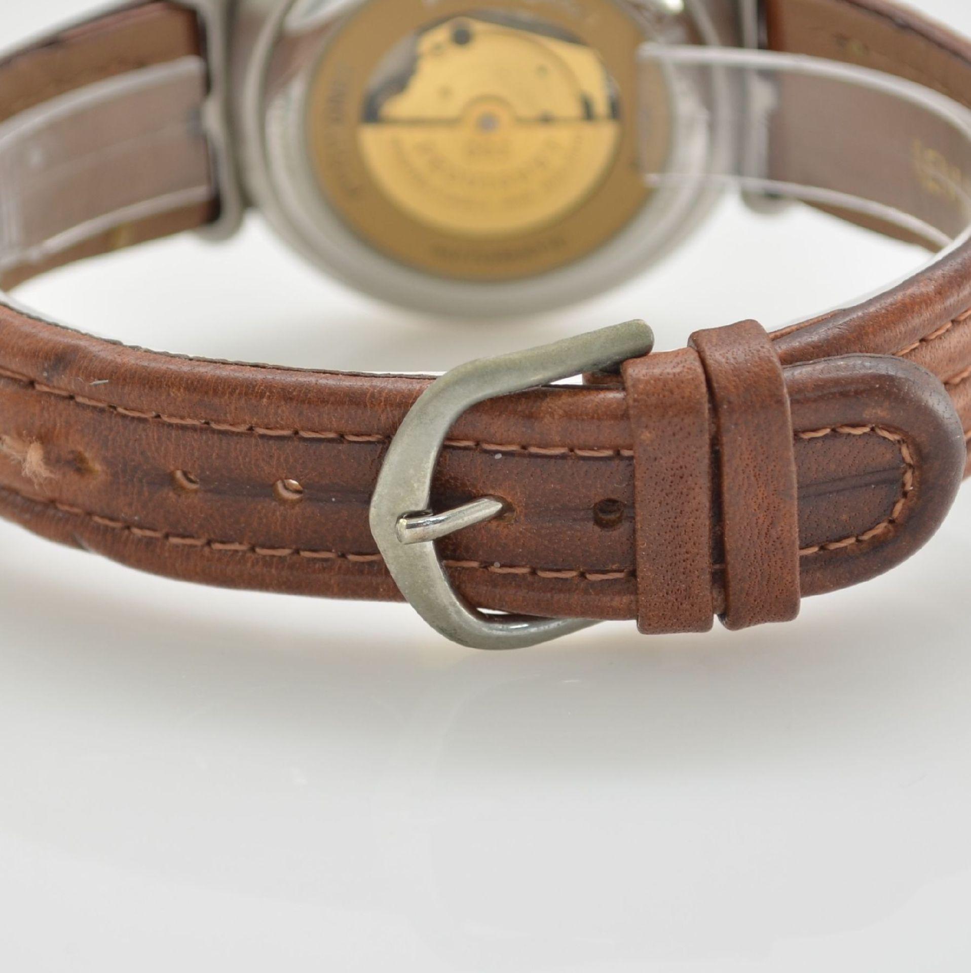 BUCHERER Chronometer Herrenarmbanduhr Archimedes in Edelstahl, Automatik, Gliederband m. dopp. - Bild 5 aus 7
