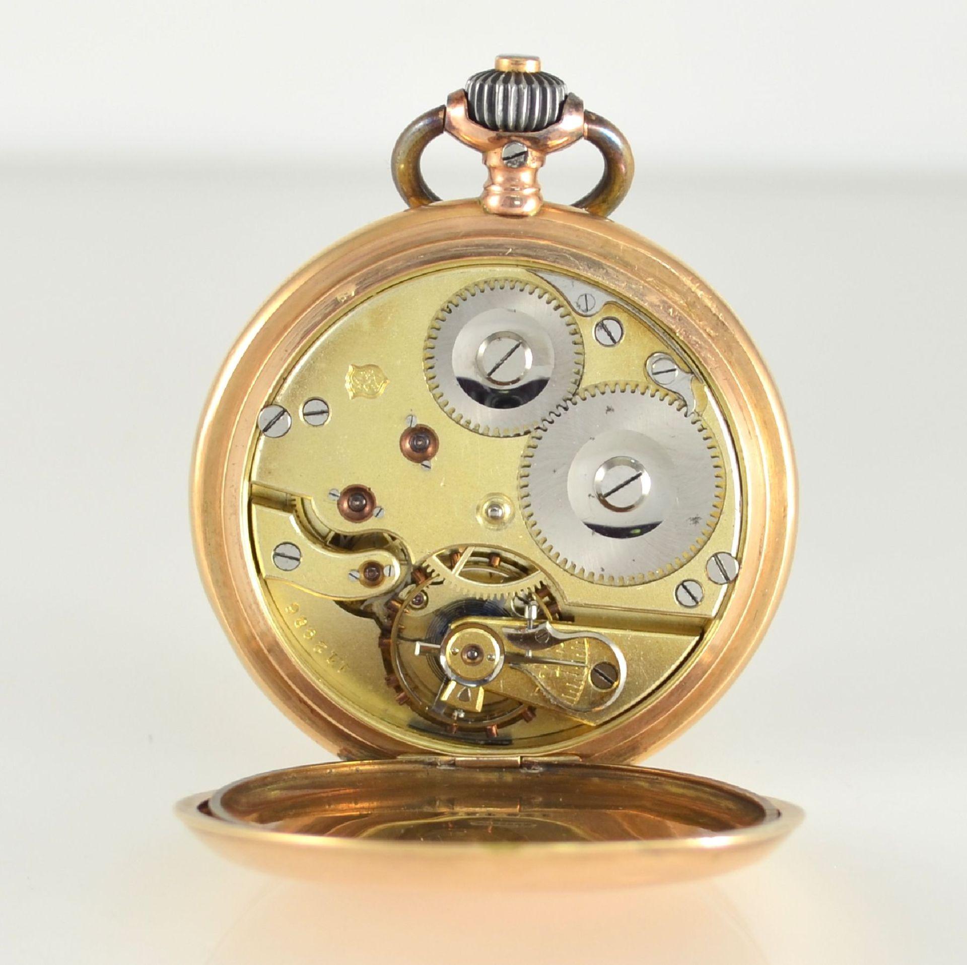 IWC Herrensavonette in RG 585/000, Schweiz um 1894, 2-Deckel Goldgehäuse dell., Emailzifferbl. m. - Bild 9 aus 10