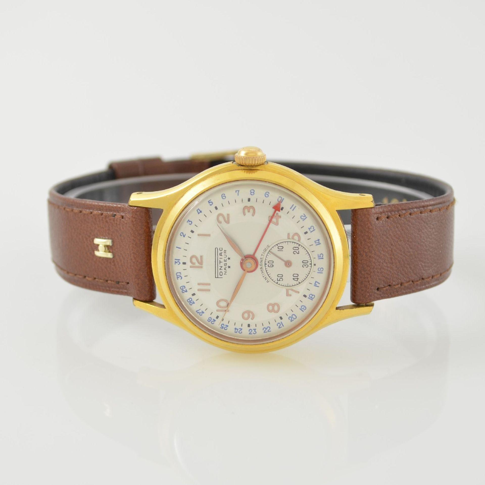 Konvolut: 2 Armbanduhren mit Kalender bzw. Datum, Schweiz um 1950-1960, Handaufzug, 1) NACAR m. - Bild 7 aus 12