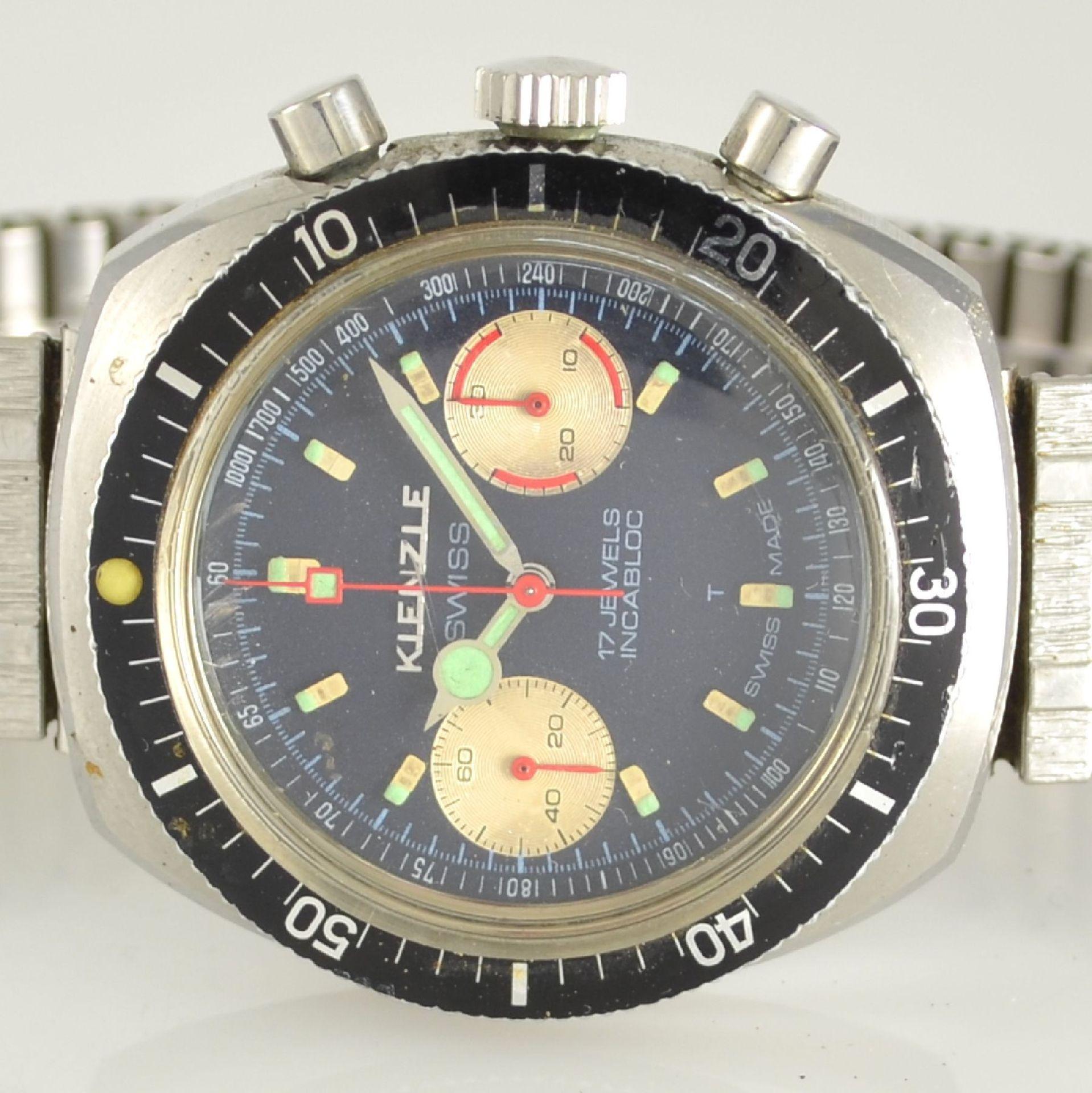 KIENZLE Armbandchronograph, Handaufzug, Schweiz/Deutschland um 1968, Ref. 1006-10, Edelstahlgeh. - Bild 2 aus 5