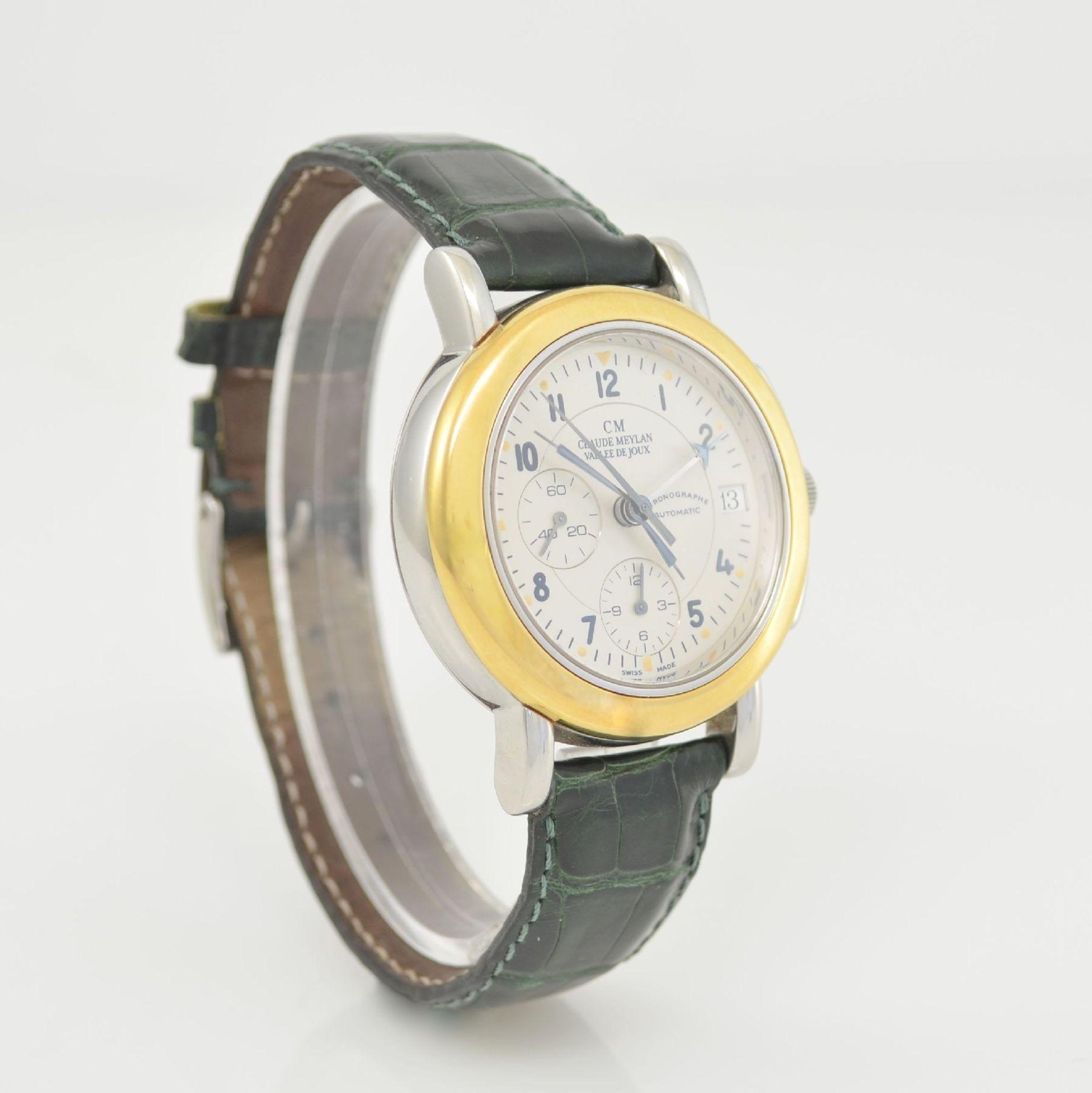CLAUDE MEYLAN Herrenarmbanduhr mit Chronograph, Schweiz um 1995, Edelstahl/Gold kombiniert, beids. - Bild 4 aus 6
