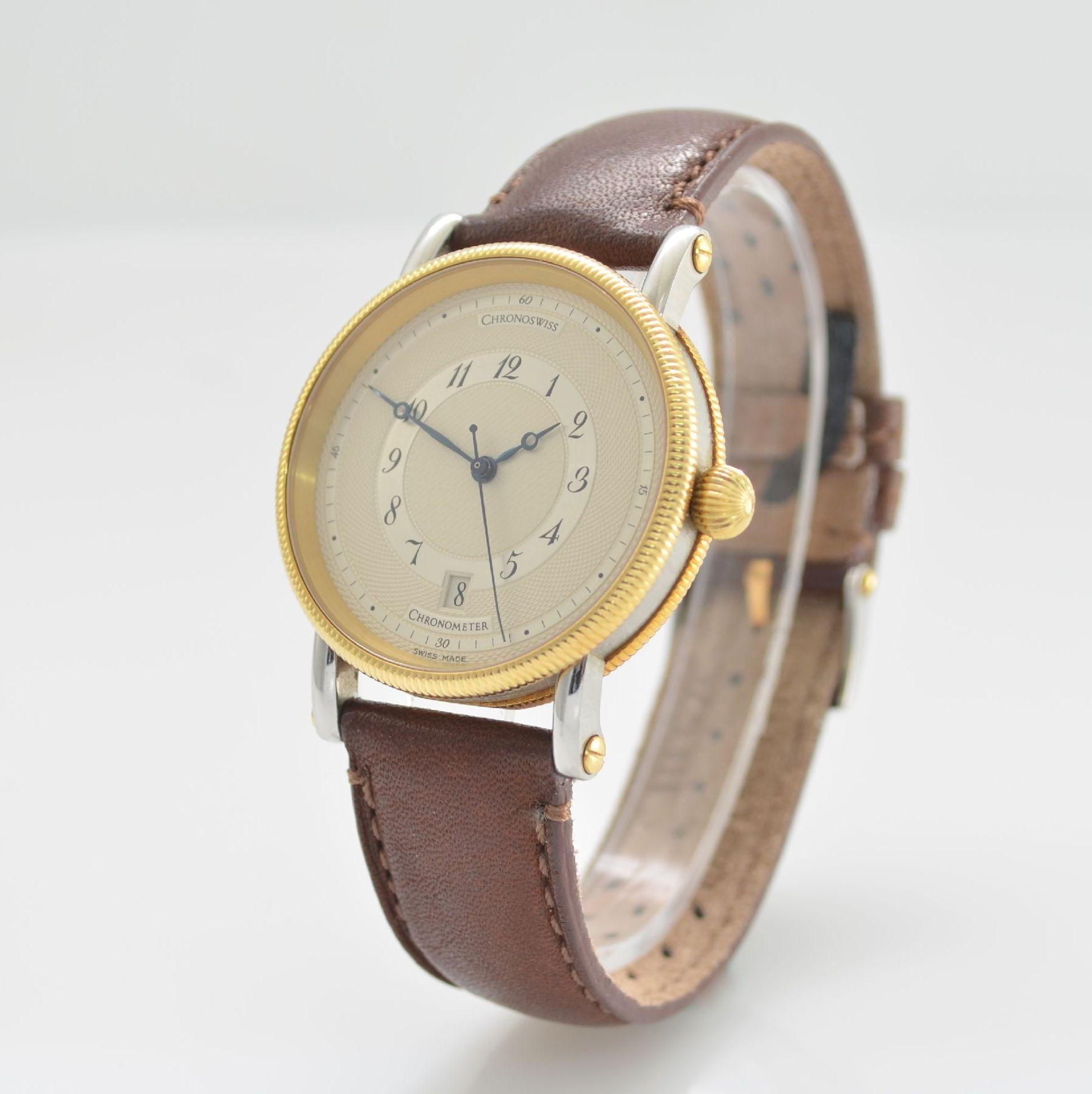 CHRONOSWISS Chronometer Herrenarmbanduhr, Automatik, Ref. CH 2822, Edelstahl/Gold kombiniert inkl. - Bild 3 aus 7