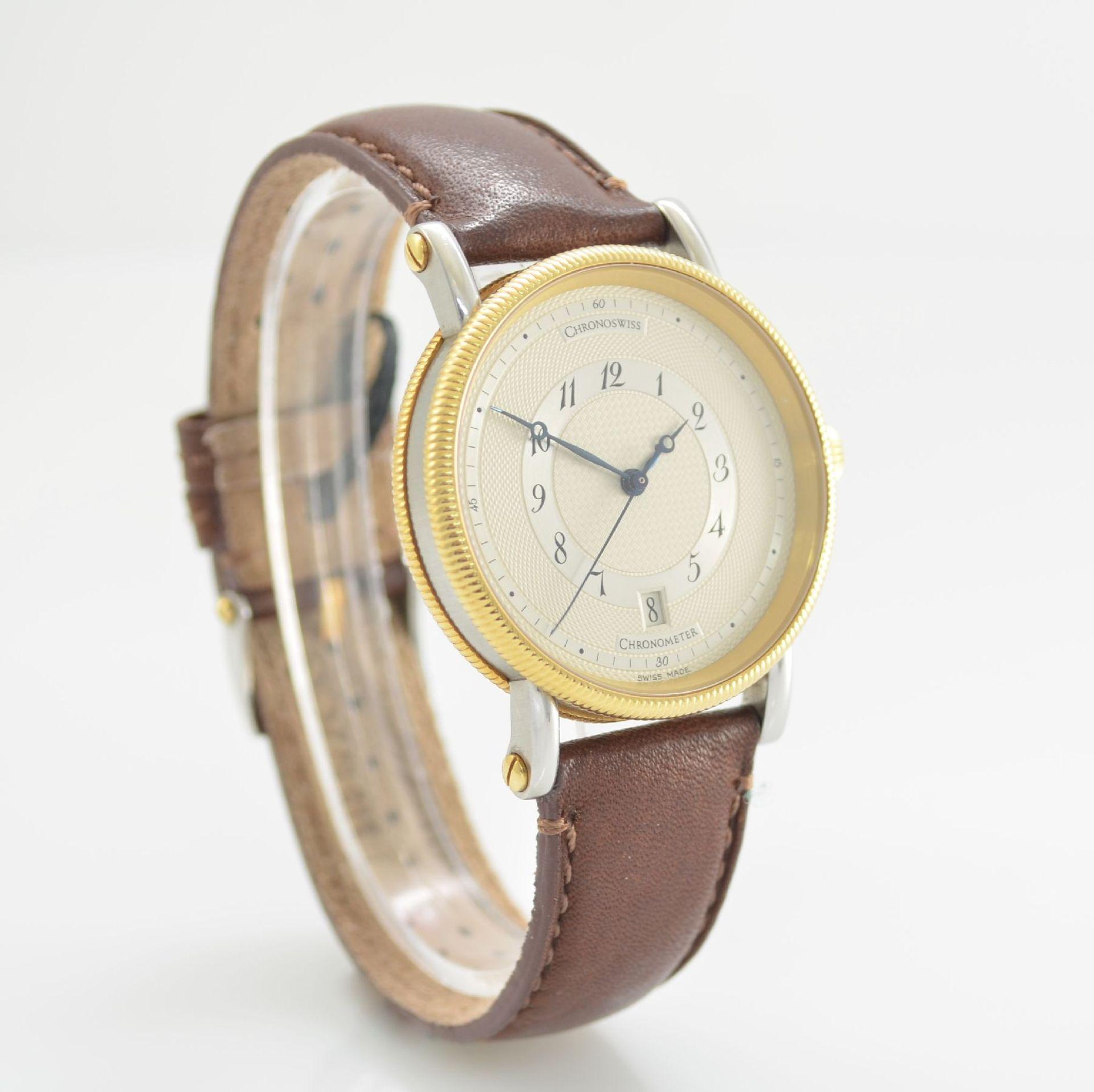 CHRONOSWISS Chronometer Herrenarmbanduhr, Automatik, Ref. CH 2822, Edelstahl/Gold kombiniert inkl. - Bild 4 aus 7