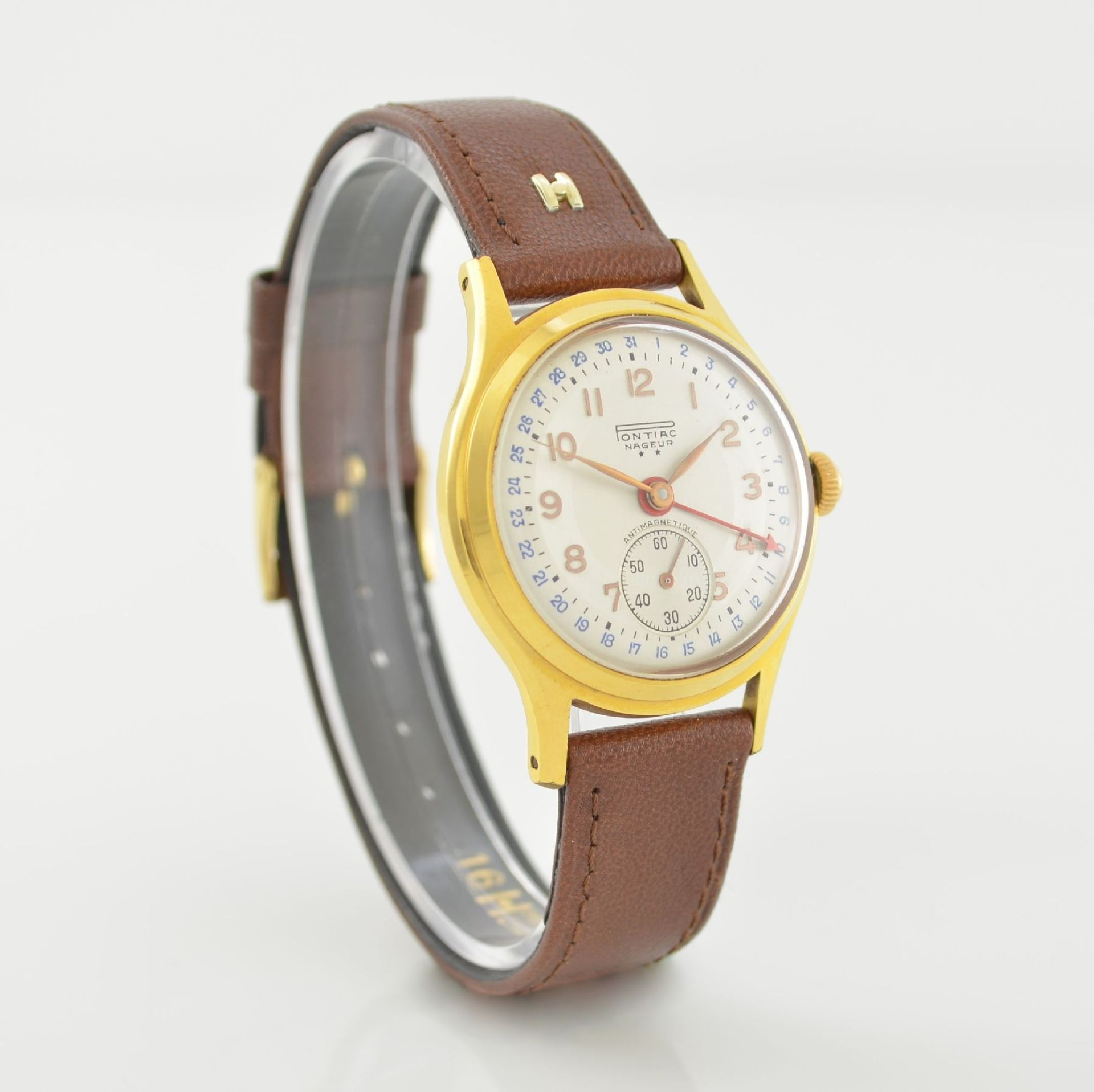 Konvolut: 2 Armbanduhren mit Kalender bzw. Datum, Schweiz um 1950-1960, Handaufzug, 1) NACAR m. - Bild 10 aus 12