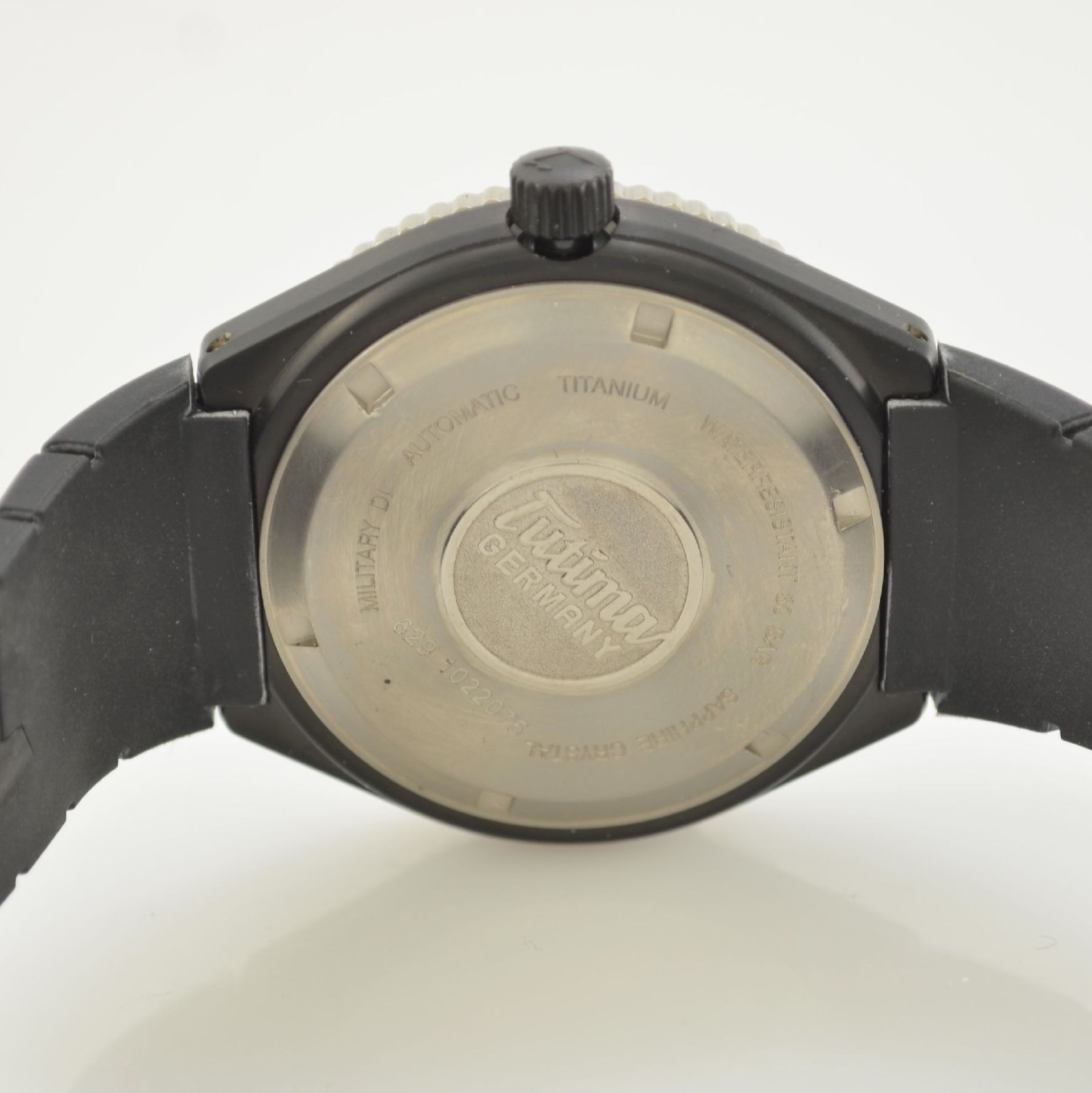 TUTIMA DI 300 Taucherarmbanduhr in Titan, Deutschland/Schweiz um 2010, Automatik, PVD- beschichtetes - Bild 7 aus 9
