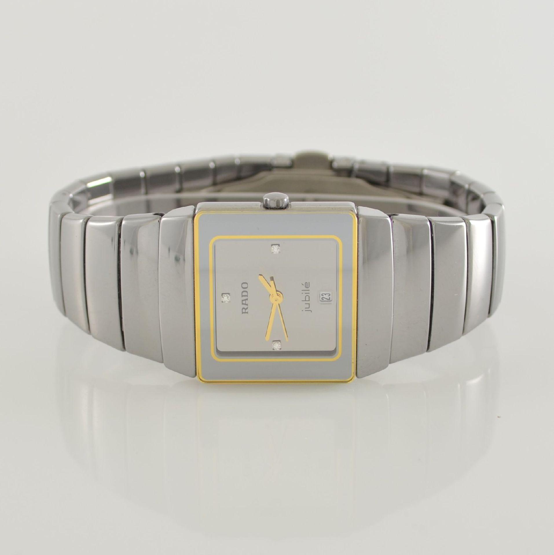RADO Diastar Damenarmbanduhr, Schweiz um 1990, quarz, Ref. 111.0333.3, kratzfestes Keramikgehäuse