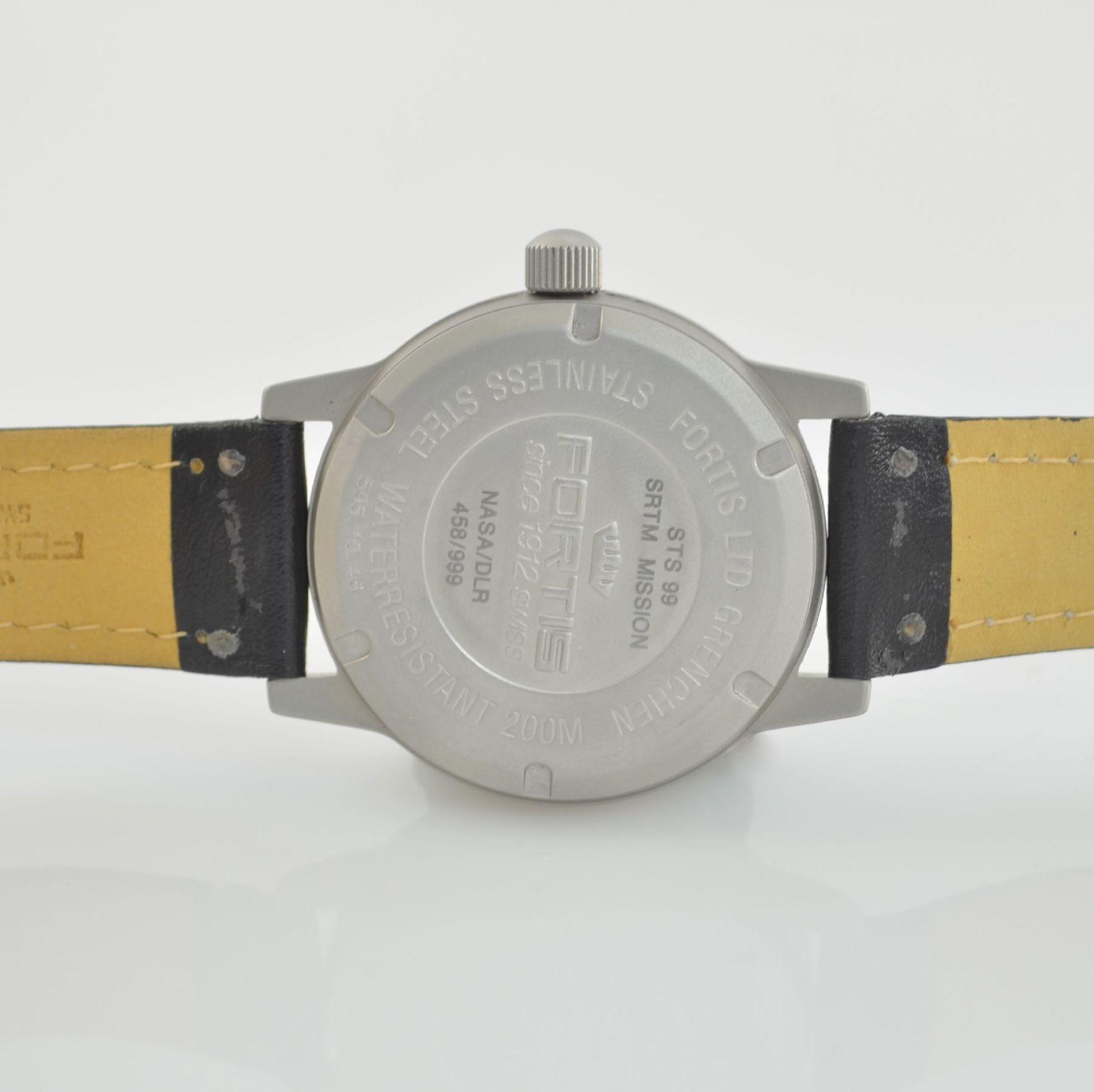 FORTIS X-SAR SRTM limitierte Herrenarmbanduhr in Edelstahl, Schweiz um 2000, Automatik, lim. Auflage - Bild 6 aus 7