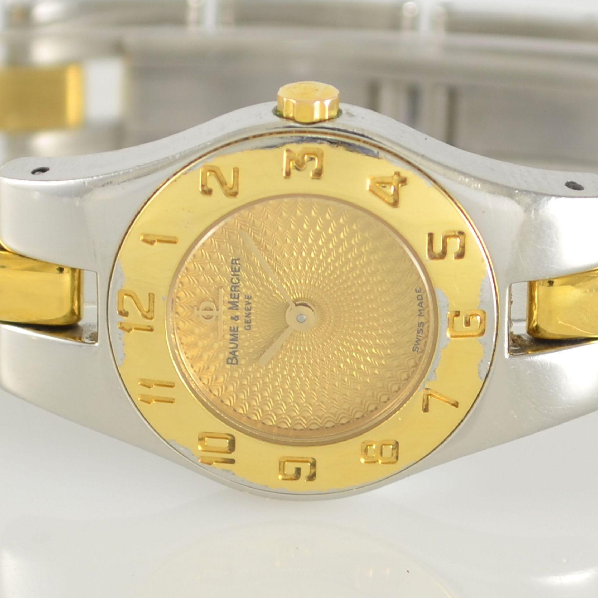 BAUME & MERCIER Damenarmbanduhr in Stahl/ vergoldet, Schweiz um 2000, gedr. Geh. m. integr. - Bild 2 aus 6