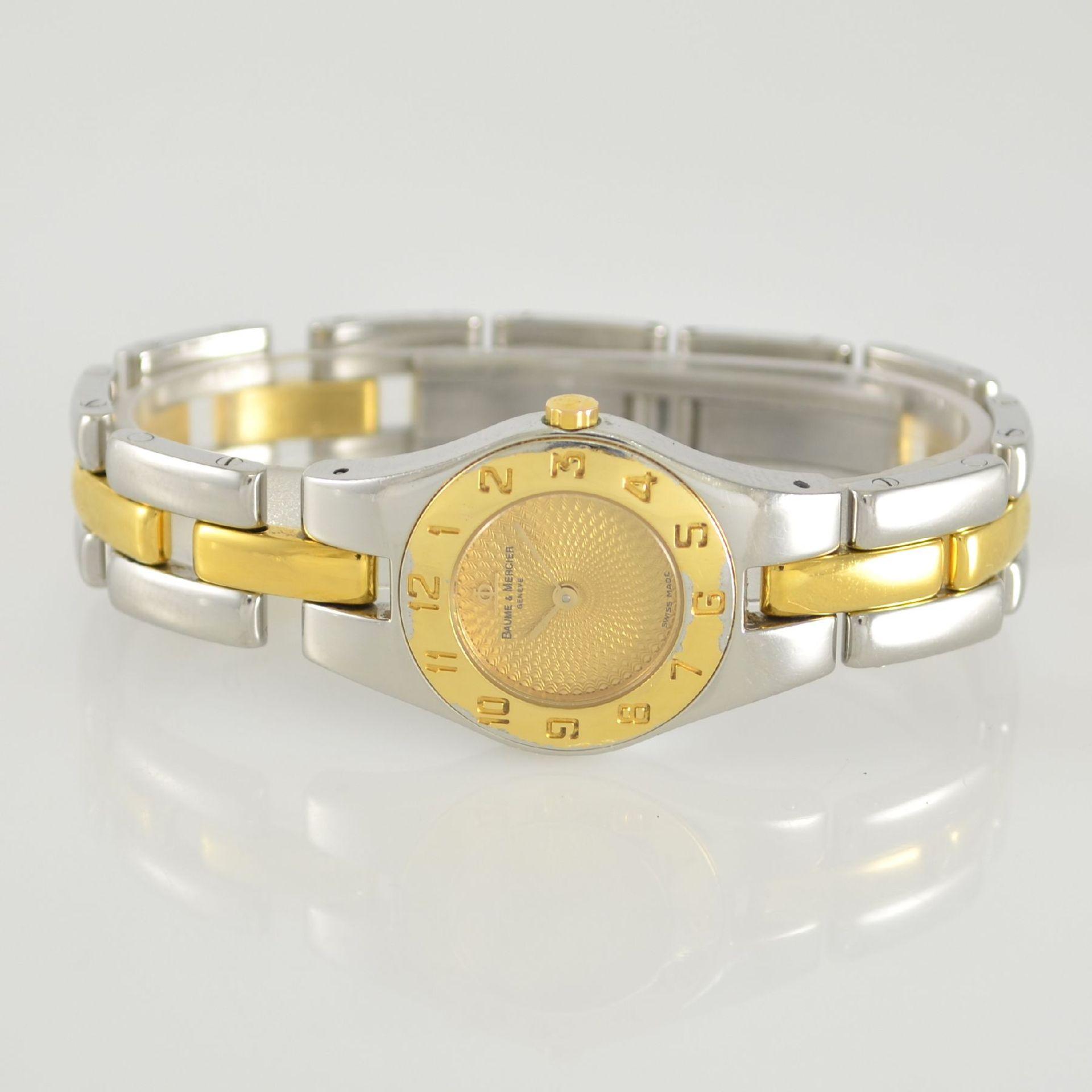 BAUME & MERCIER Damenarmbanduhr in Stahl/ vergoldet, Schweiz um 2000, gedr. Geh. m. integr.
