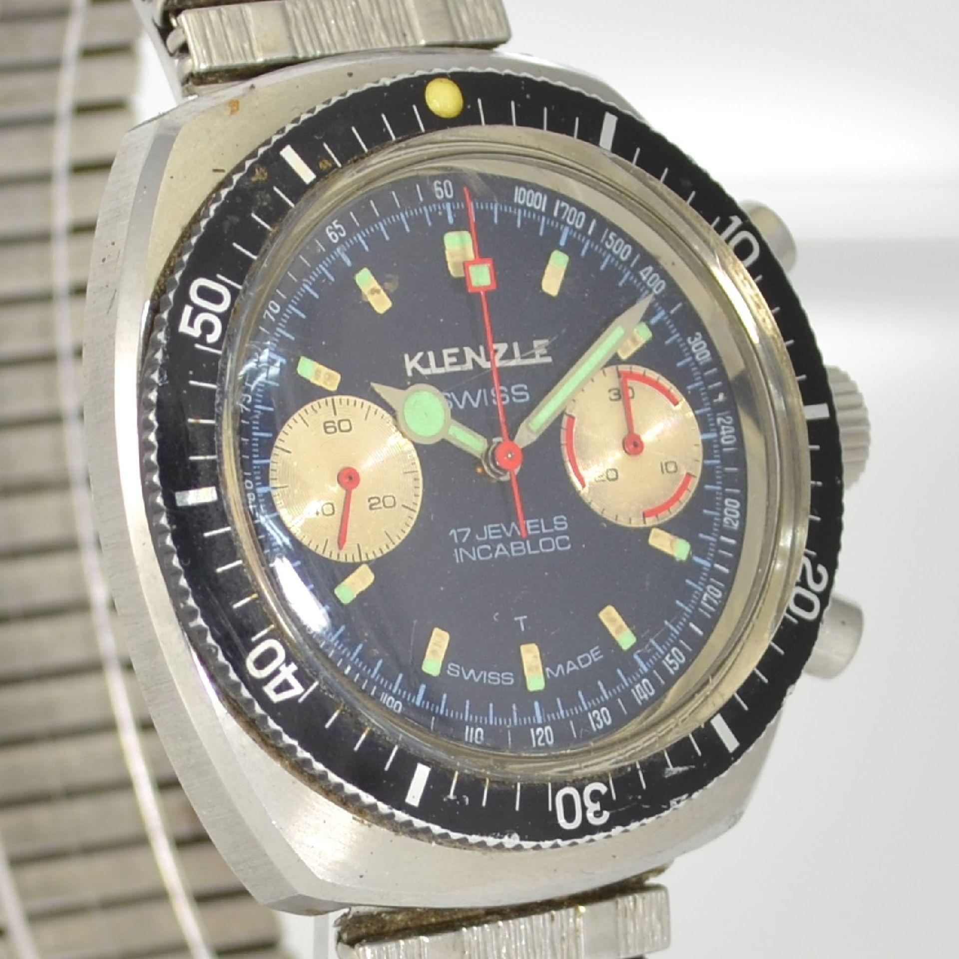KIENZLE Armbandchronograph, Handaufzug, Schweiz/Deutschland um 1968, Ref. 1006-10, Edelstahlgeh. - Bild 4 aus 5