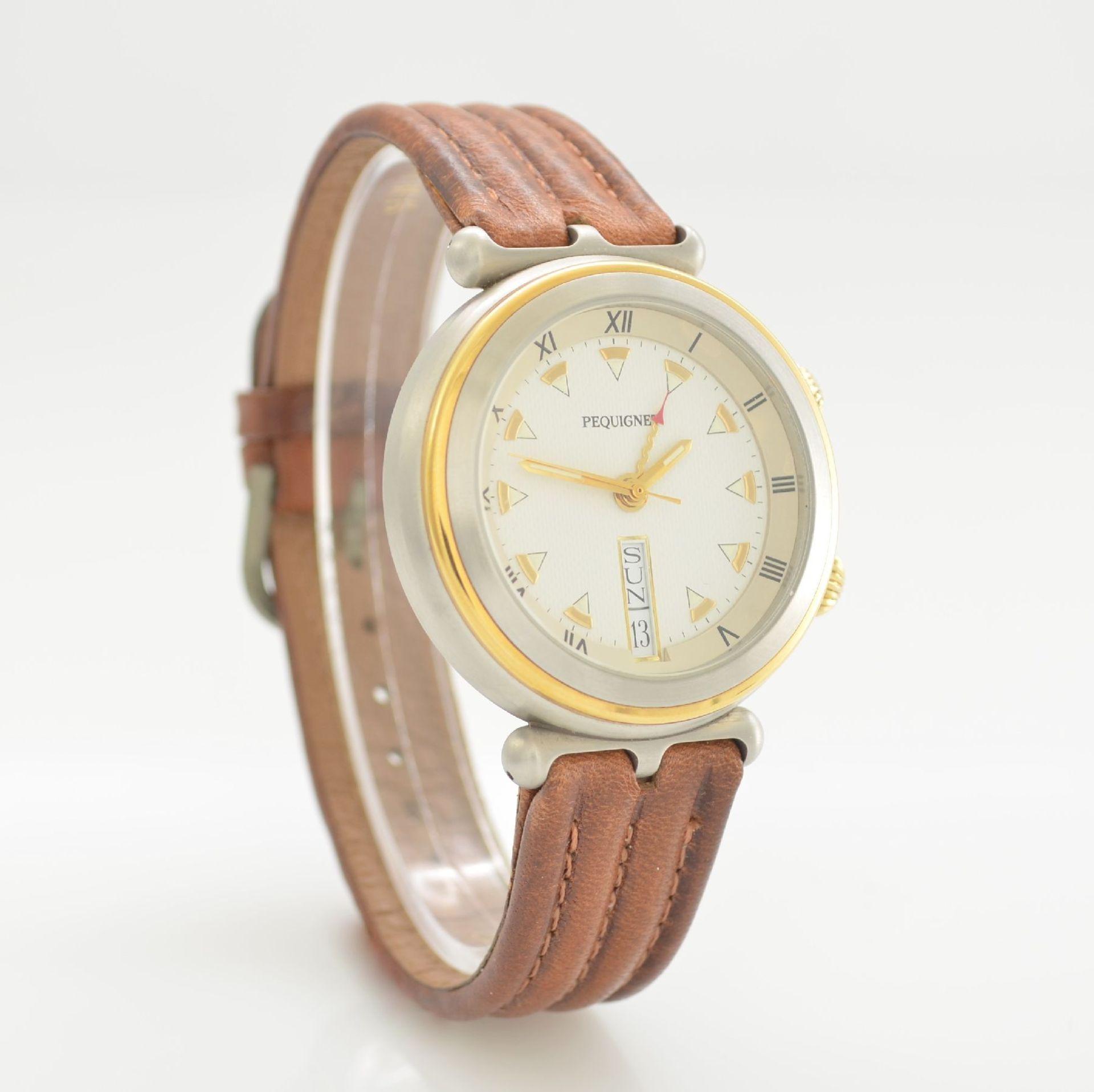 BUCHERER Chronometer Herrenarmbanduhr Archimedes in Edelstahl, Automatik, Gliederband m. dopp. - Bild 4 aus 7