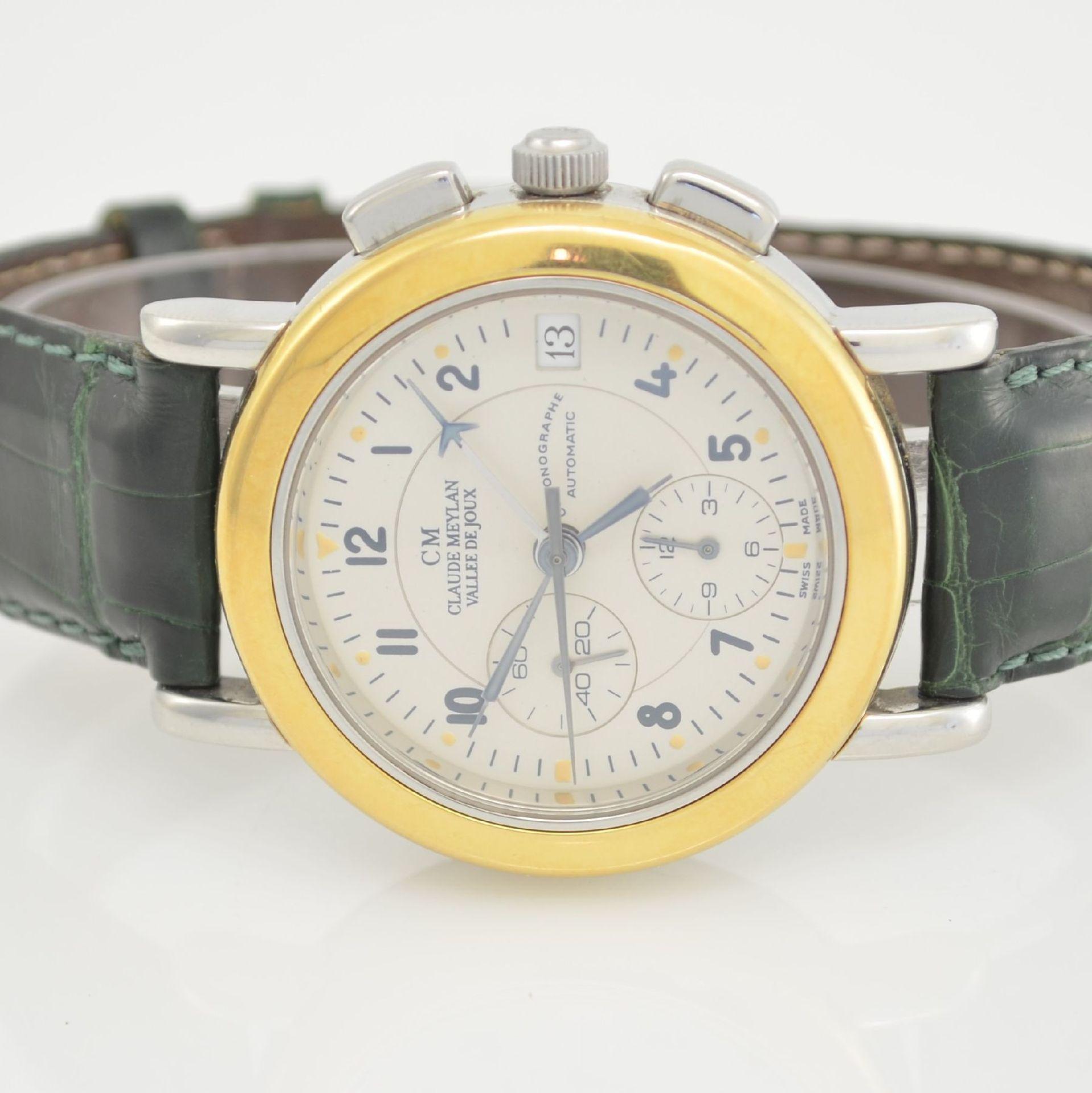 CLAUDE MEYLAN Herrenarmbanduhr mit Chronograph, Schweiz um 1995, Edelstahl/Gold kombiniert, beids. - Bild 2 aus 6