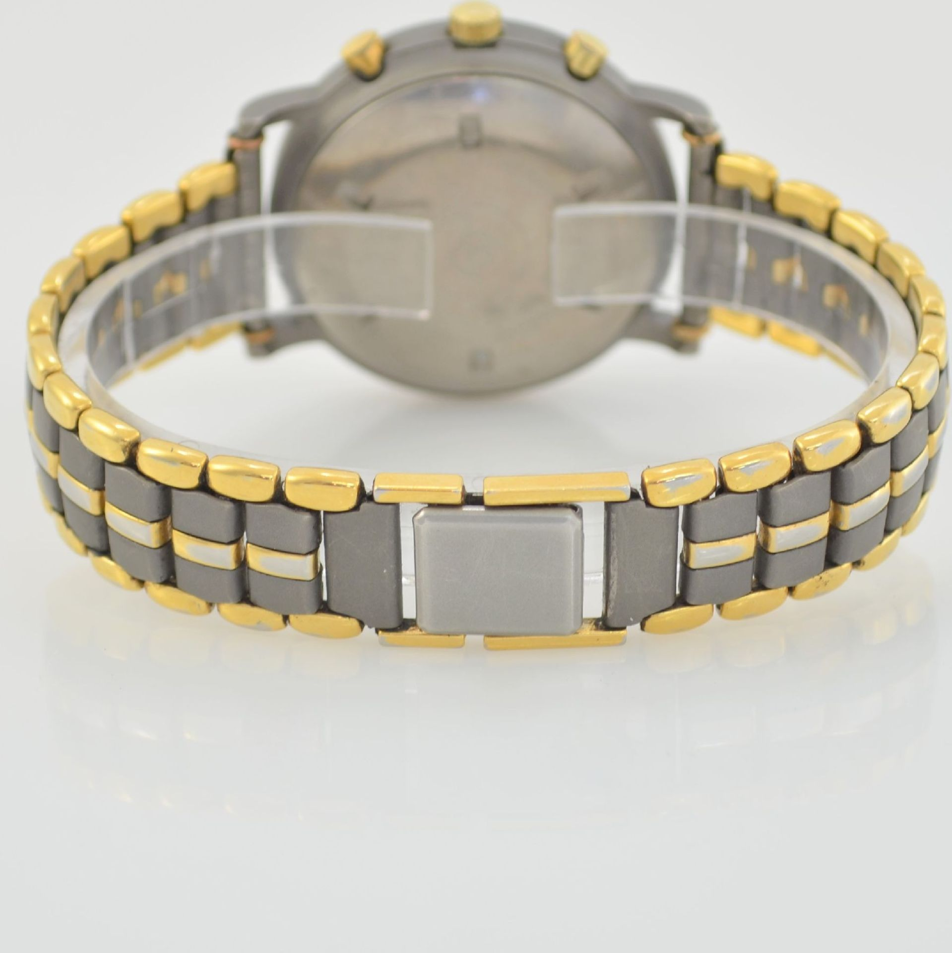 ZENTRA Herrenarmbanduhr Armbandchronograph, Automatik, Schweiz um 1987, Titangeh. inkl. - Bild 5 aus 6
